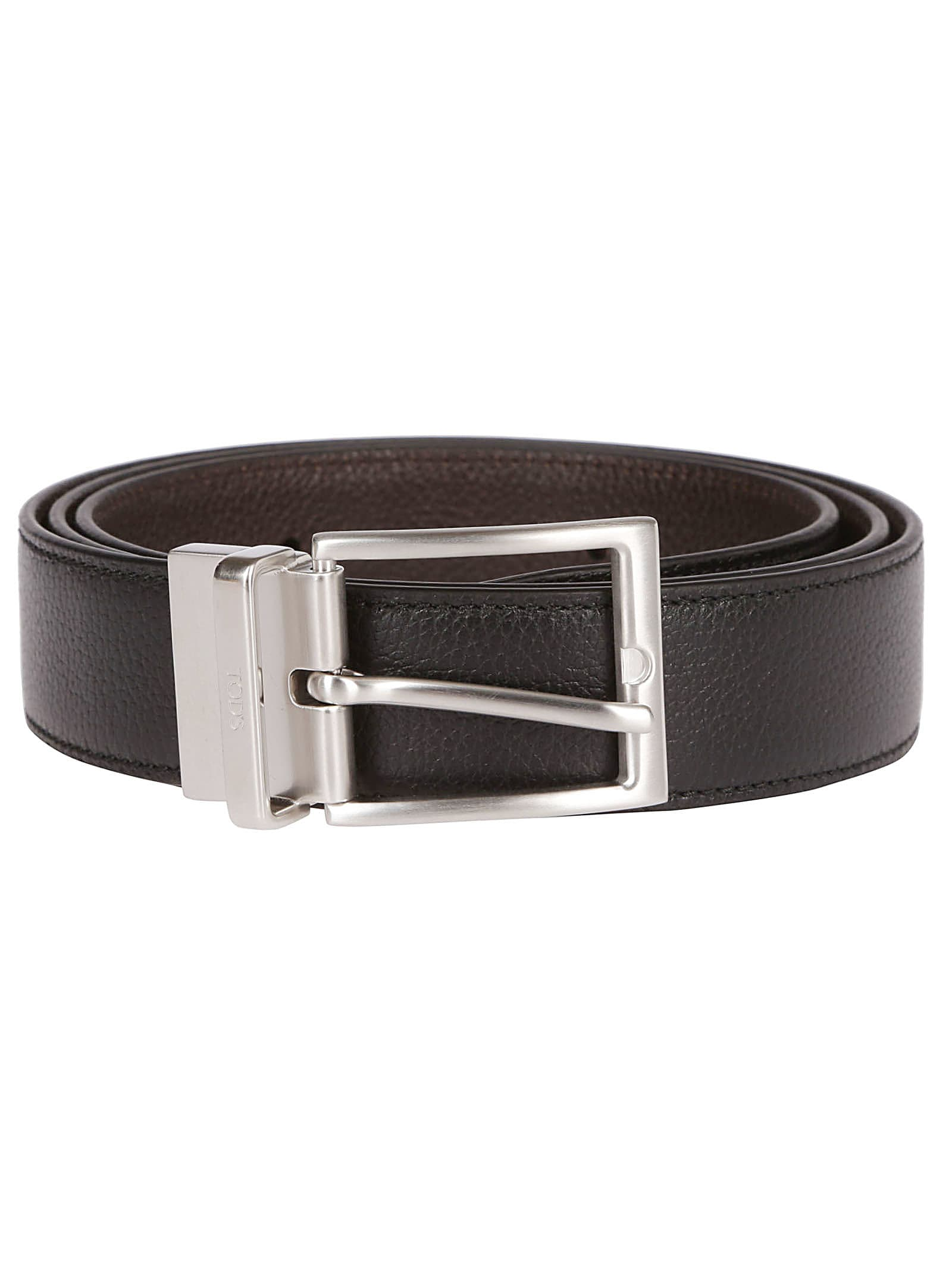 Black Leather Buckle Belt from TodsComposition: 100% Leather