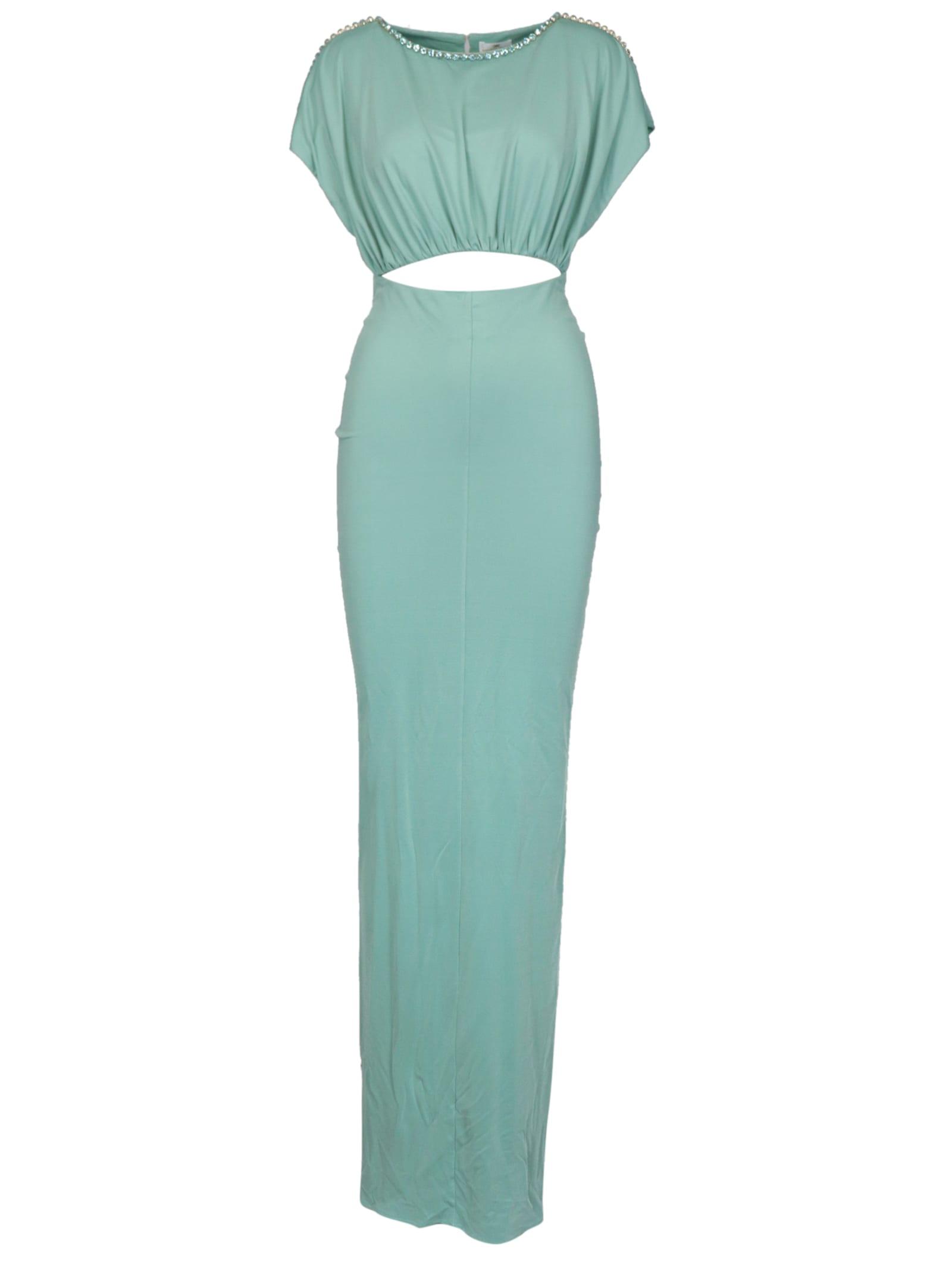 Buy Elisabetta Franchi Celyn B. Jersey Maxi Dress online, shop Elisabetta Franchi Celyn B. with free shipping