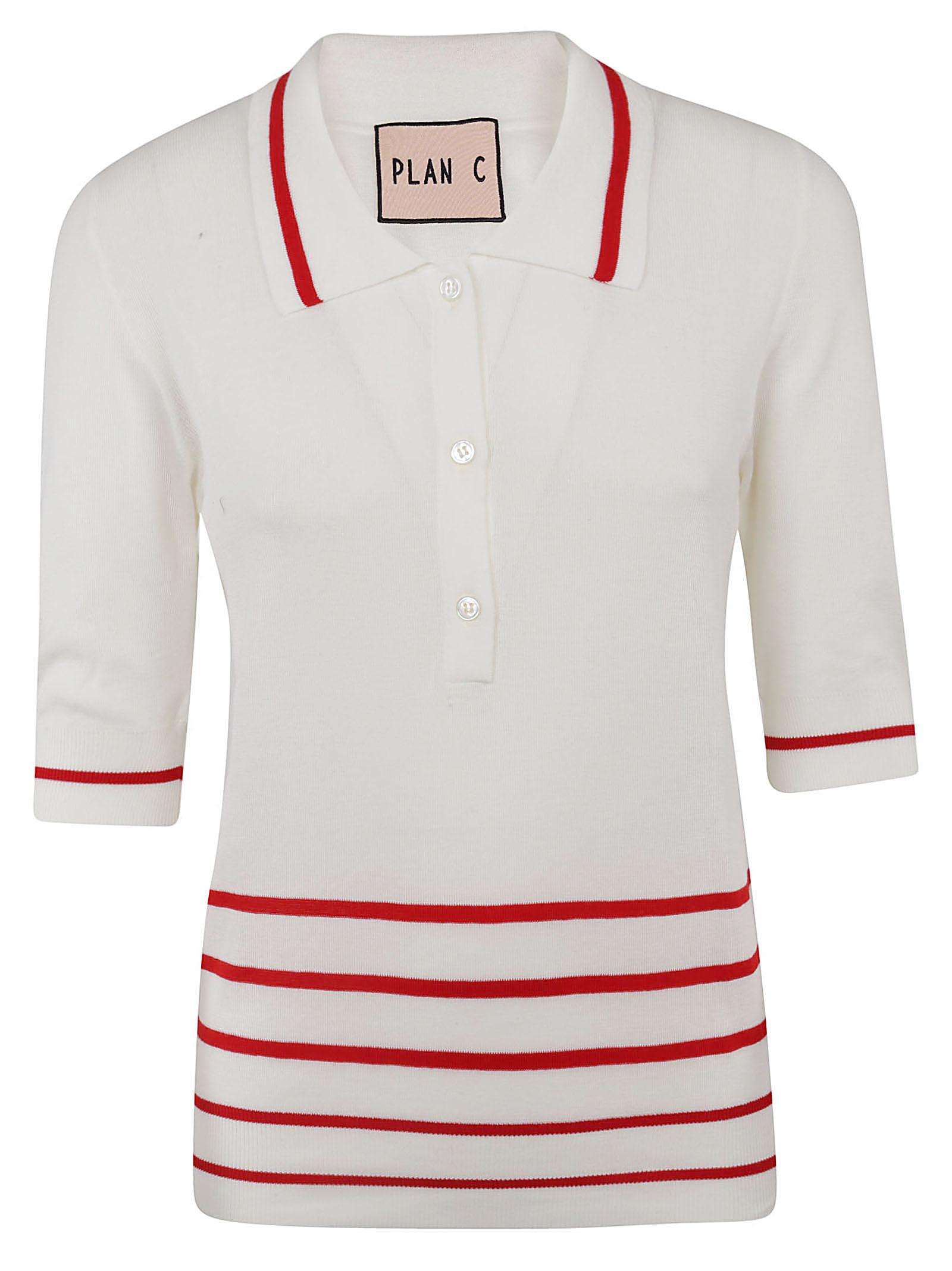 Plan C Three Quarter Sleeve Polo Shirt