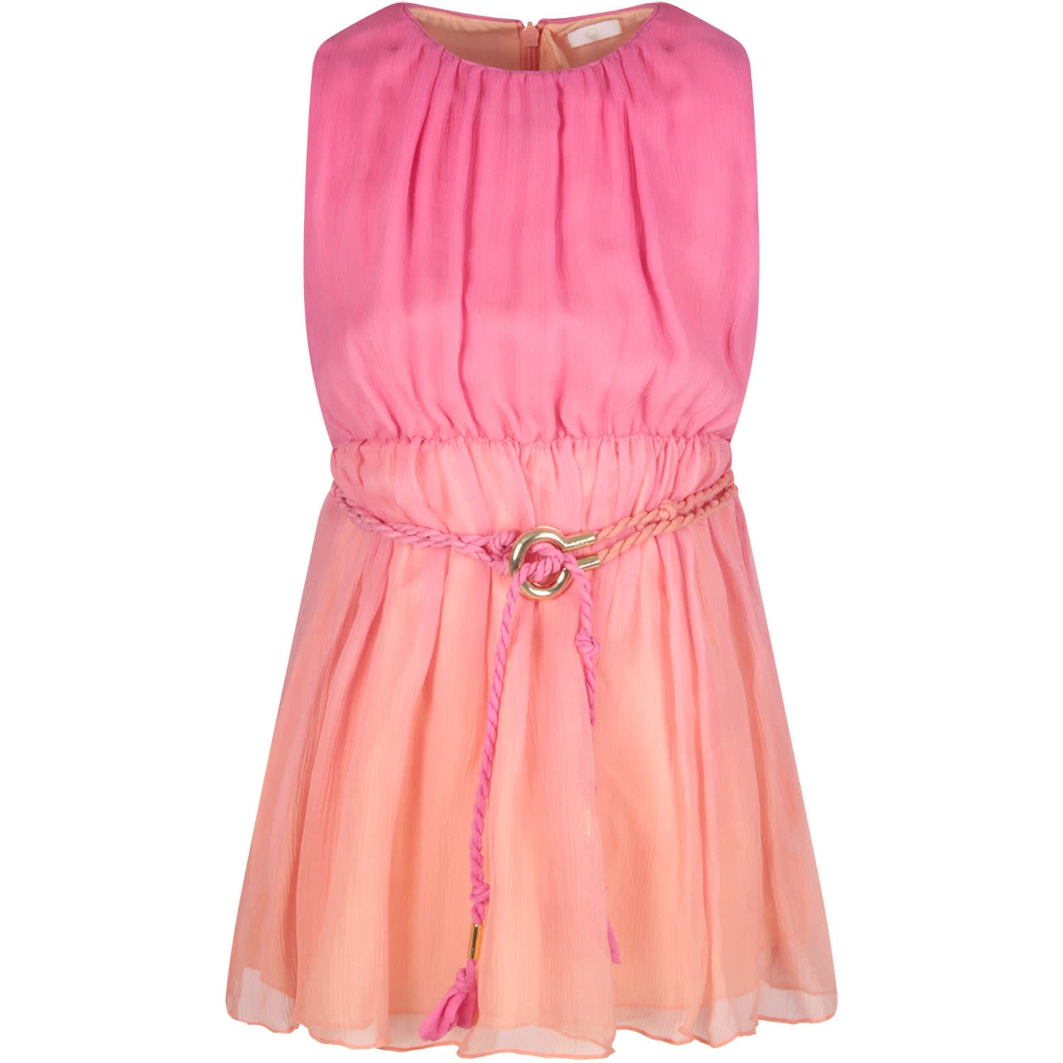 Buy Chloé Pink And Fuchsia Girl Dress online, shop Chloé with free shipping