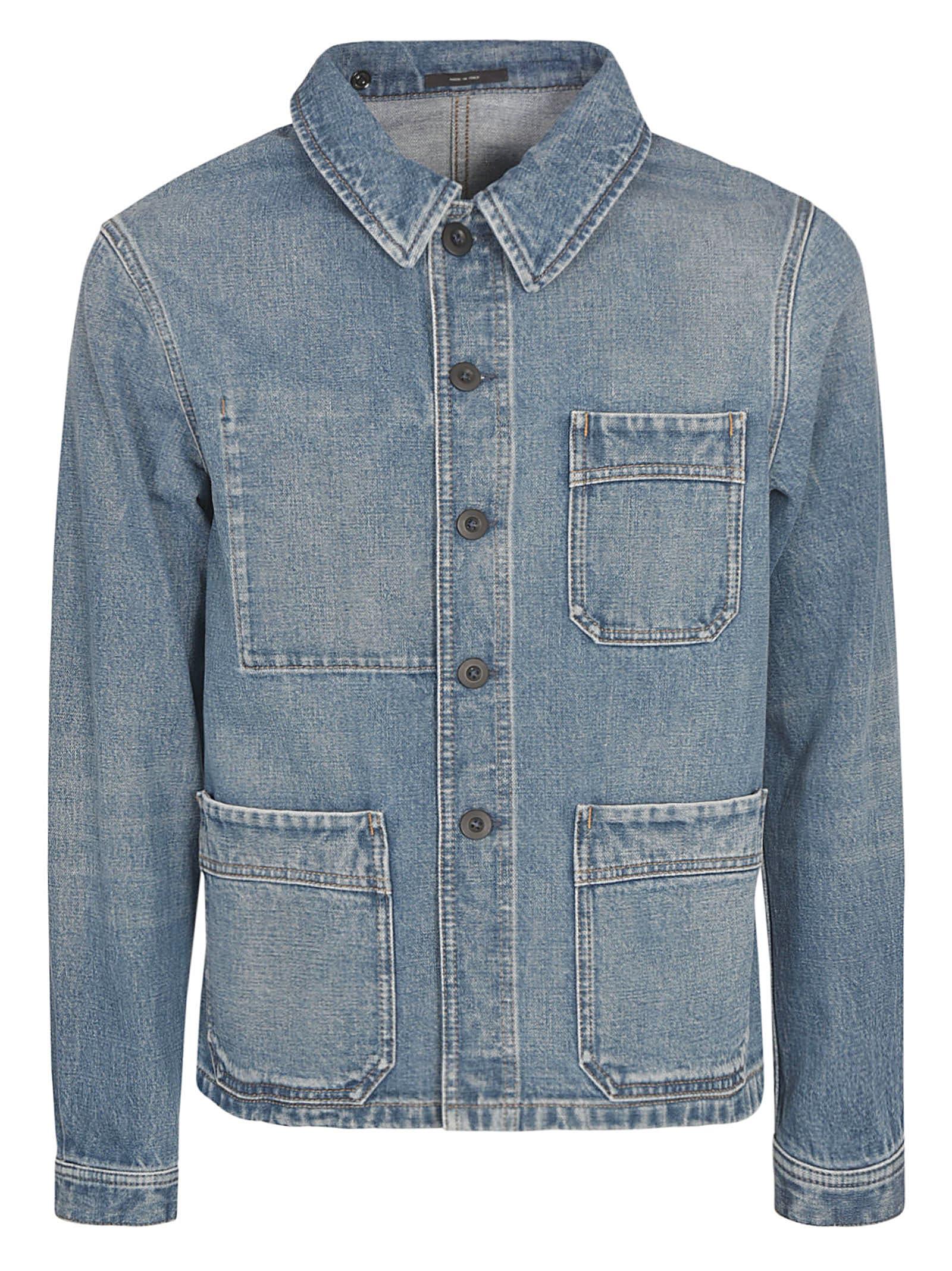 Tom Ford Denim Jacket In Blue
