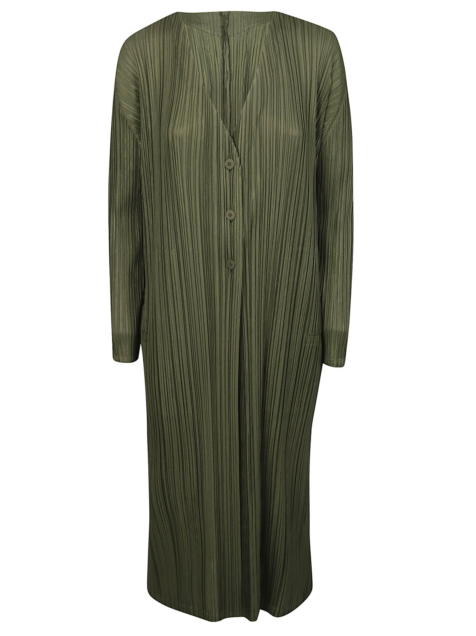 Pleats Please Issey Miyake Pleated Long Dress
