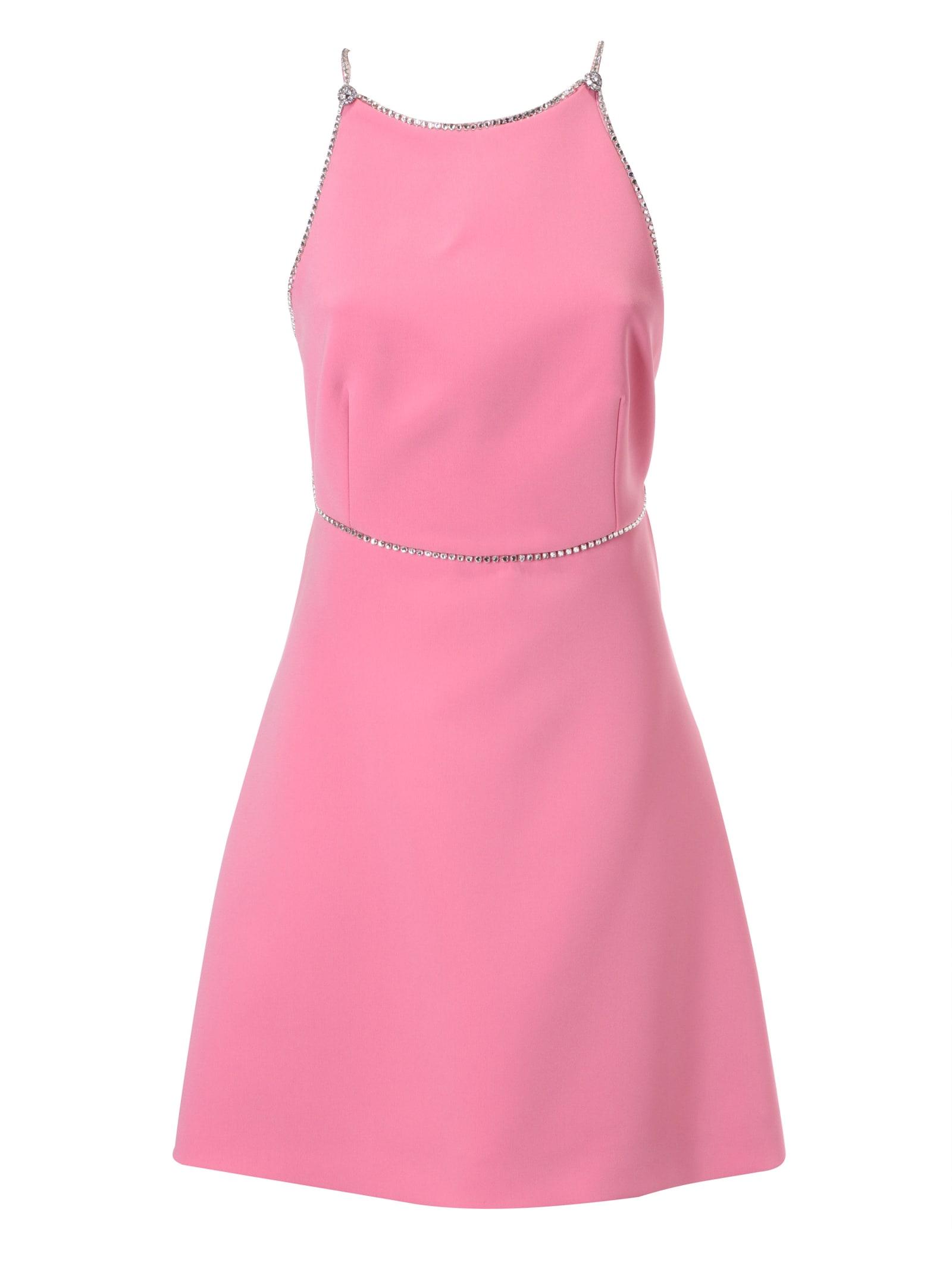Buy Miu Miu Backless Flared Dress online, shop Miu Miu with free shipping