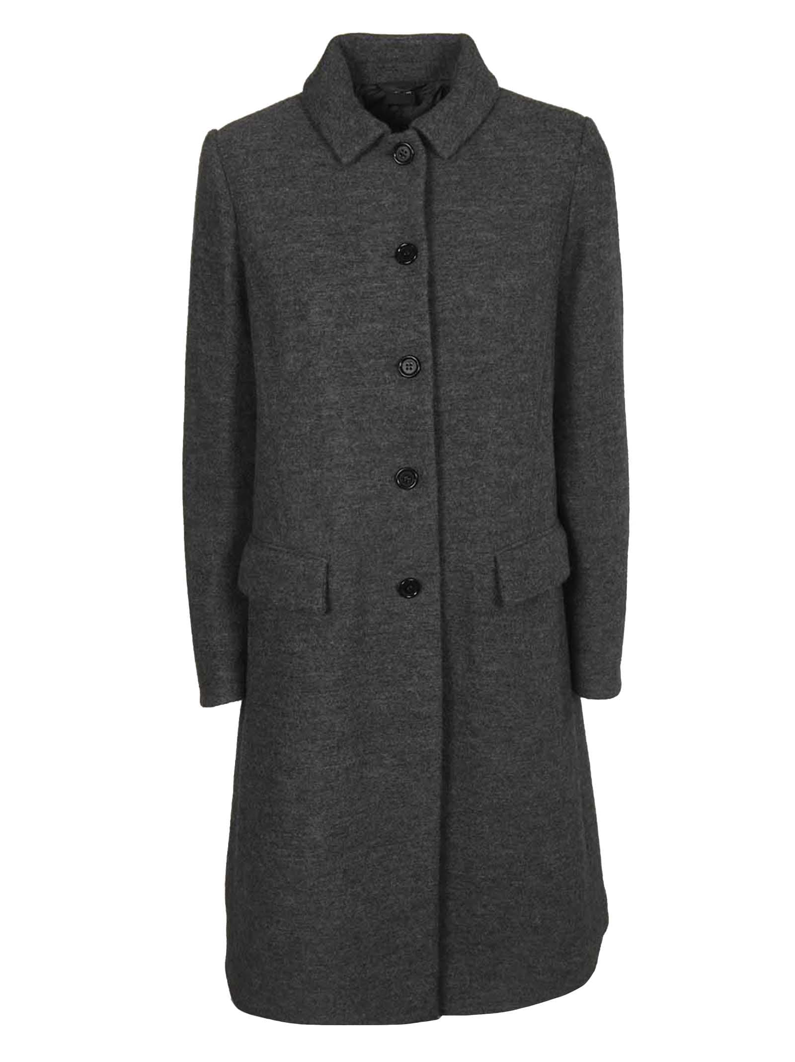Aspesi Single Breasted Buttoned Coat