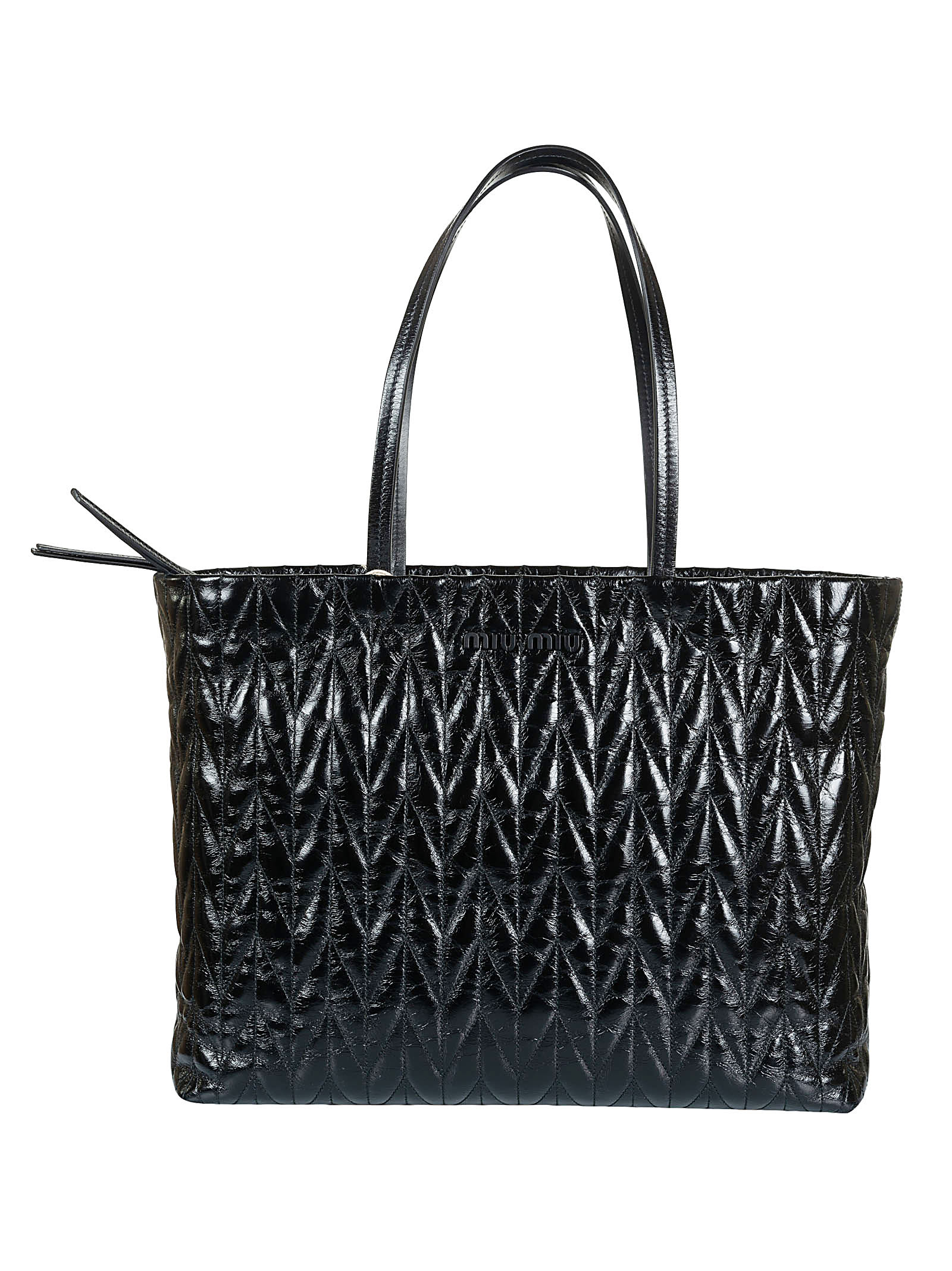 Logo Detail Quilted Tote