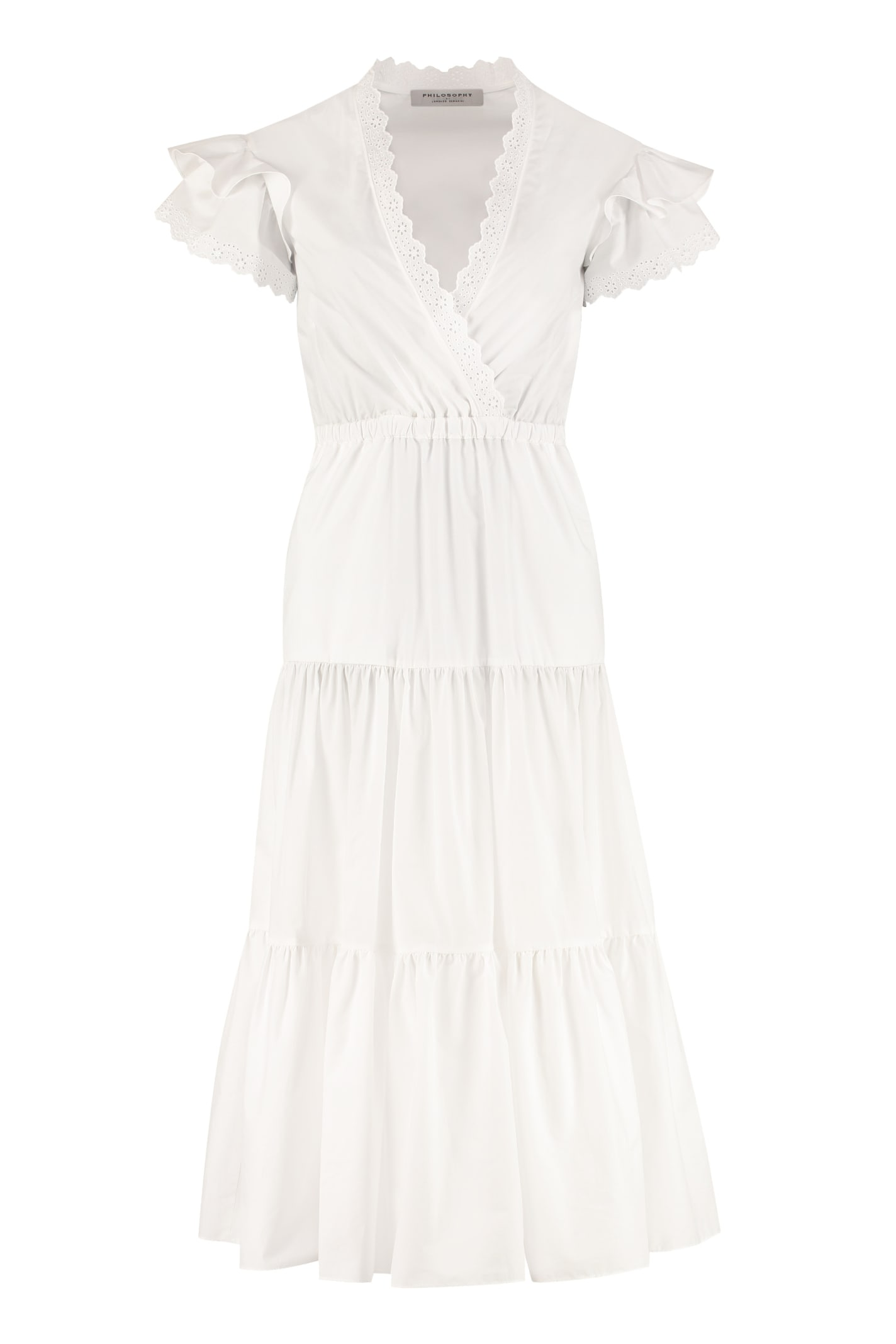 Buy Philosophy di Lorenzo Serafini Cotton Maxi Dress online, shop Philosophy di Lorenzo Serafini with free shipping