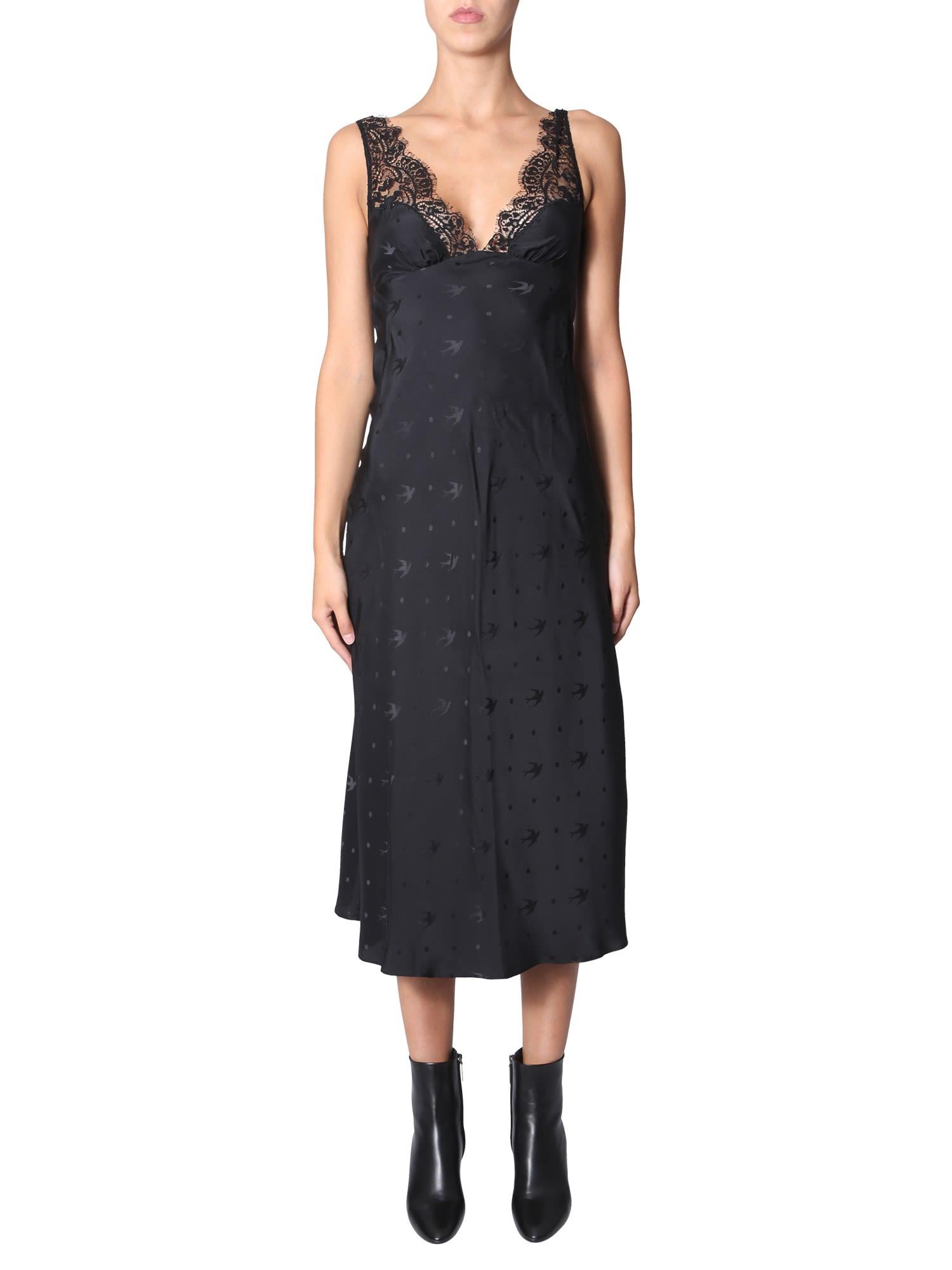 McQ Alexander McQueen V-neck Dress