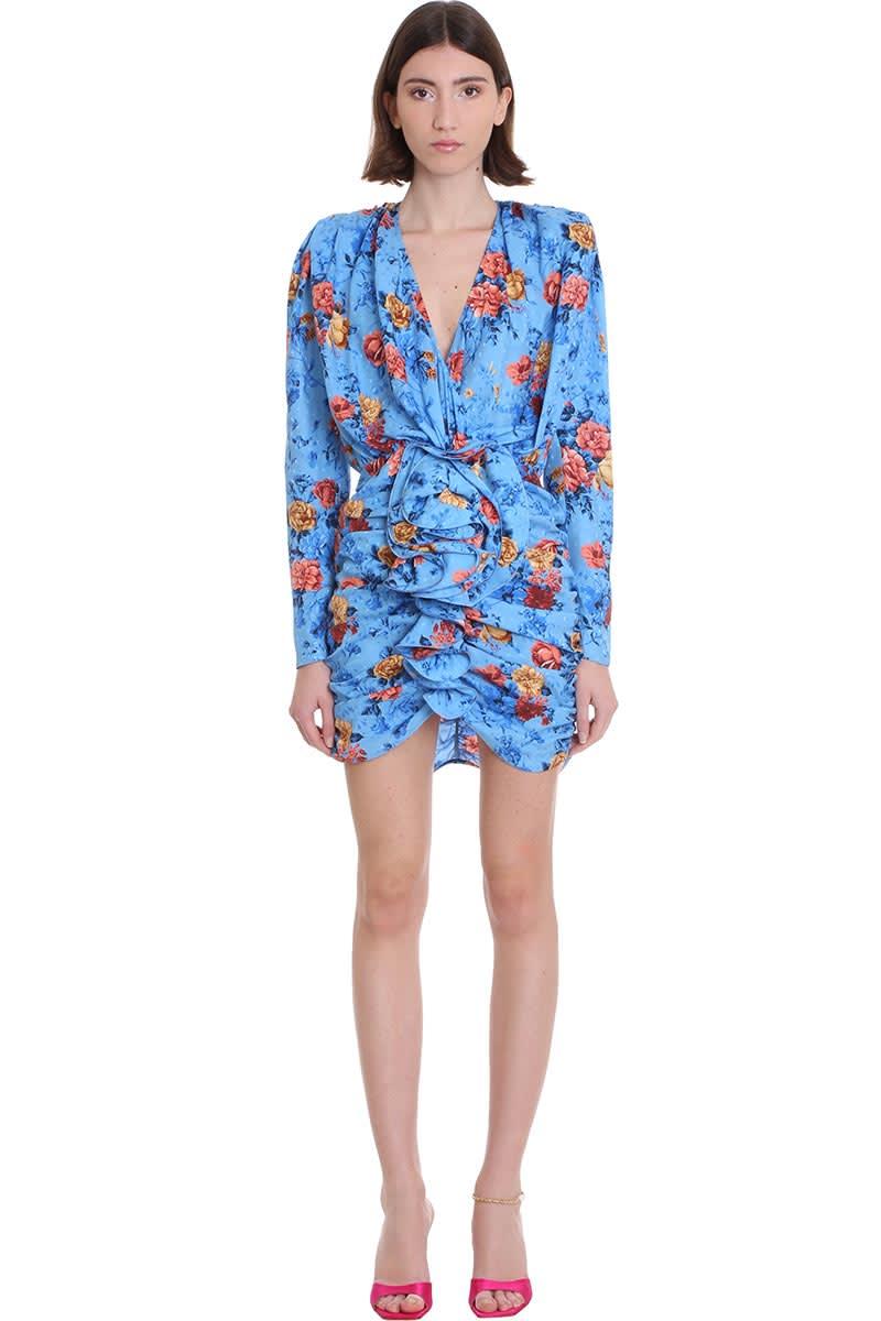 Buy Magda Butrym Burgos Dress In Blue Silk online, shop Magda Butrym with free shipping