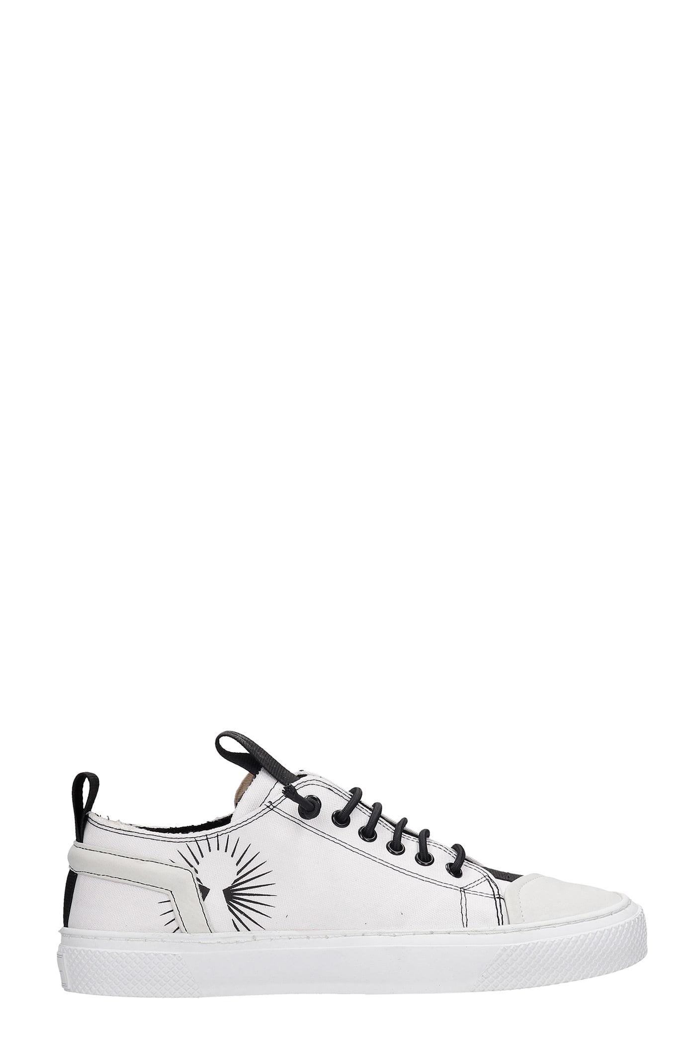 Cecca Sneakers In White Canvas