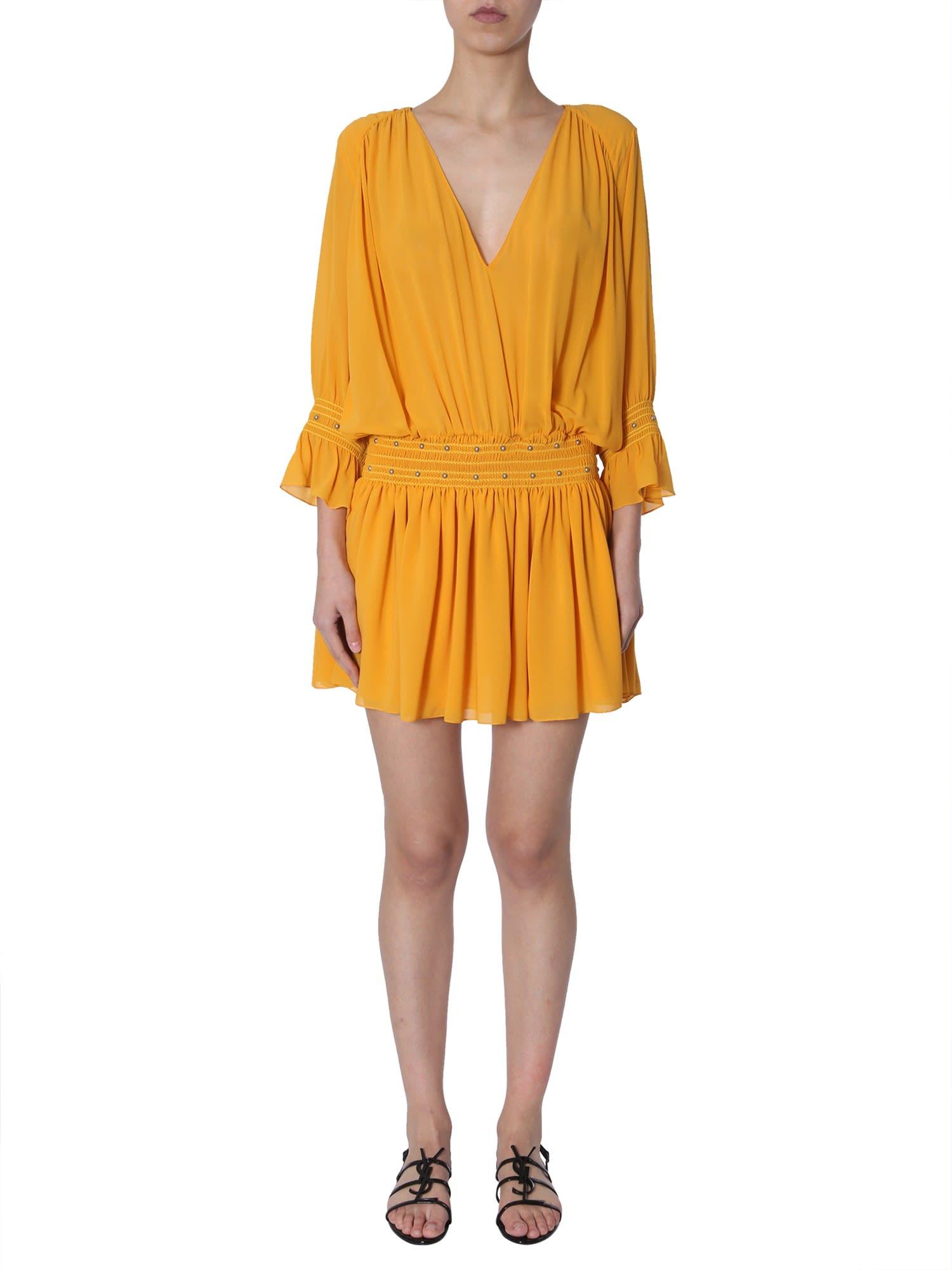Saint Laurent Short Silk Dress