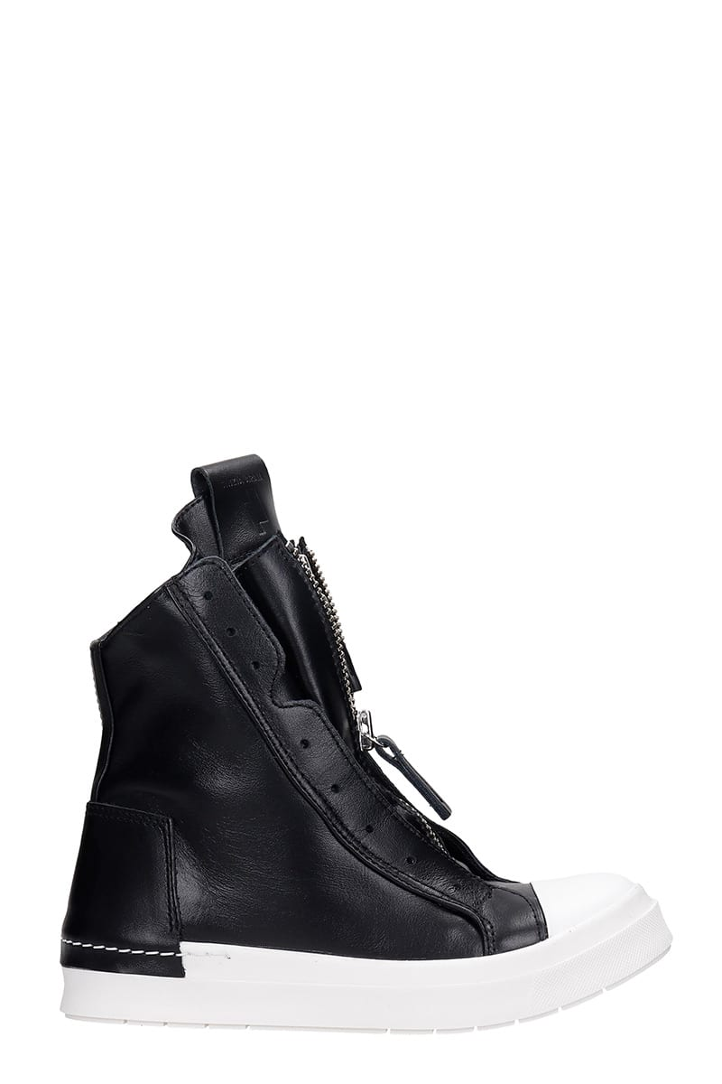 Sneakers In Black Leather