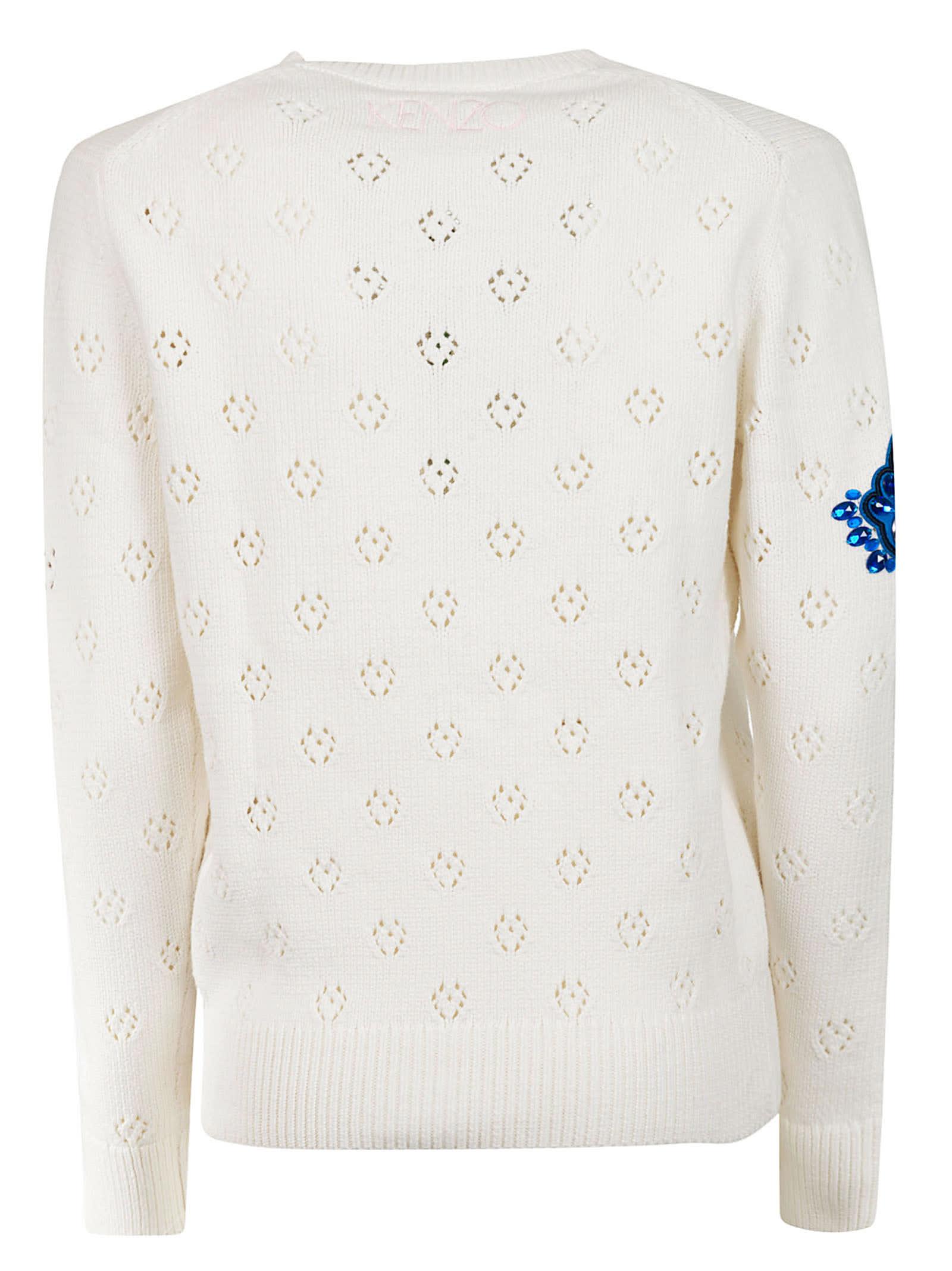 75748197 Kenzo Embroidered Rose Sweatshirt