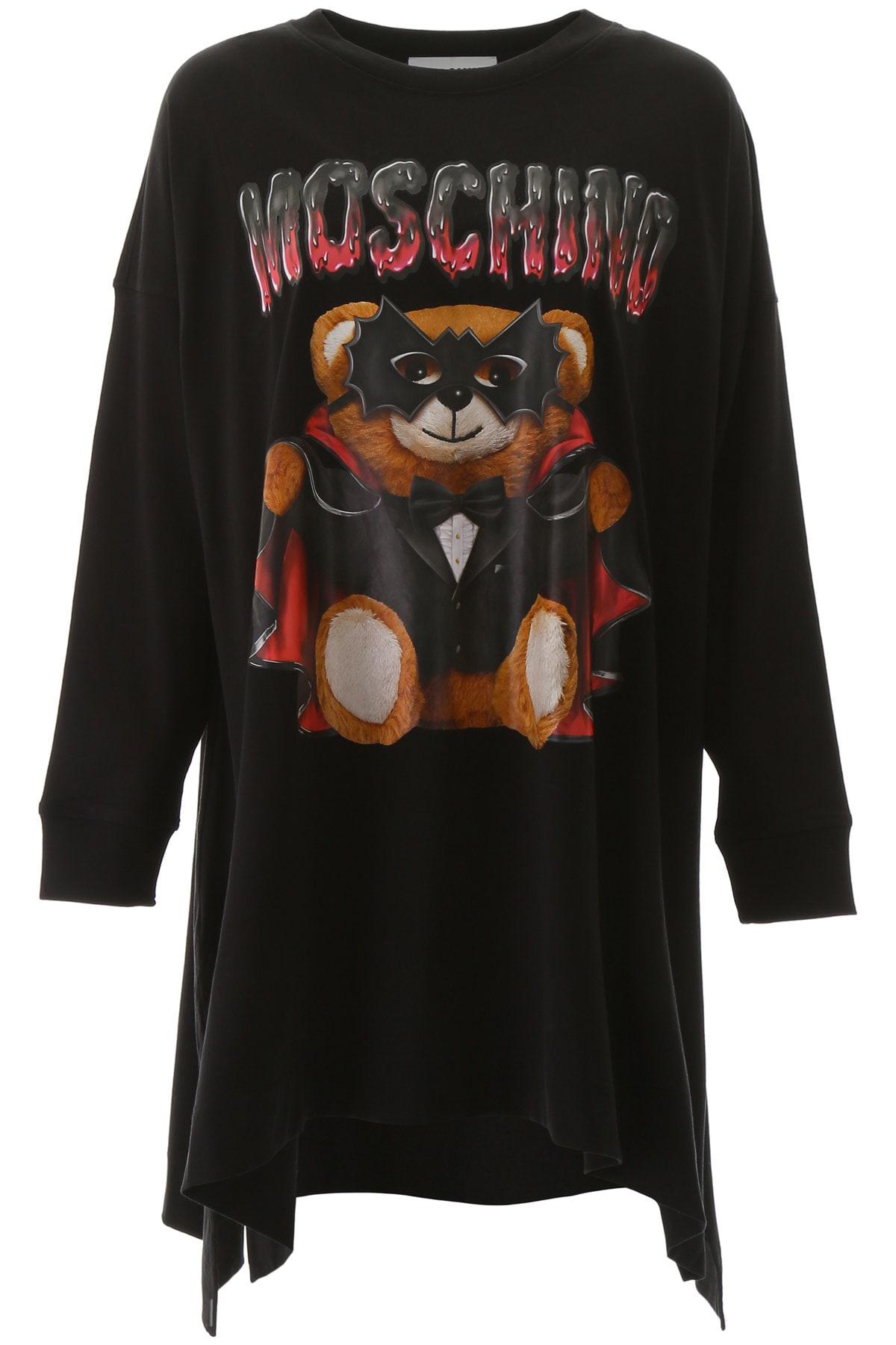 Buy Moschino Bat Teddy Bear Dress online, shop Moschino with free shipping