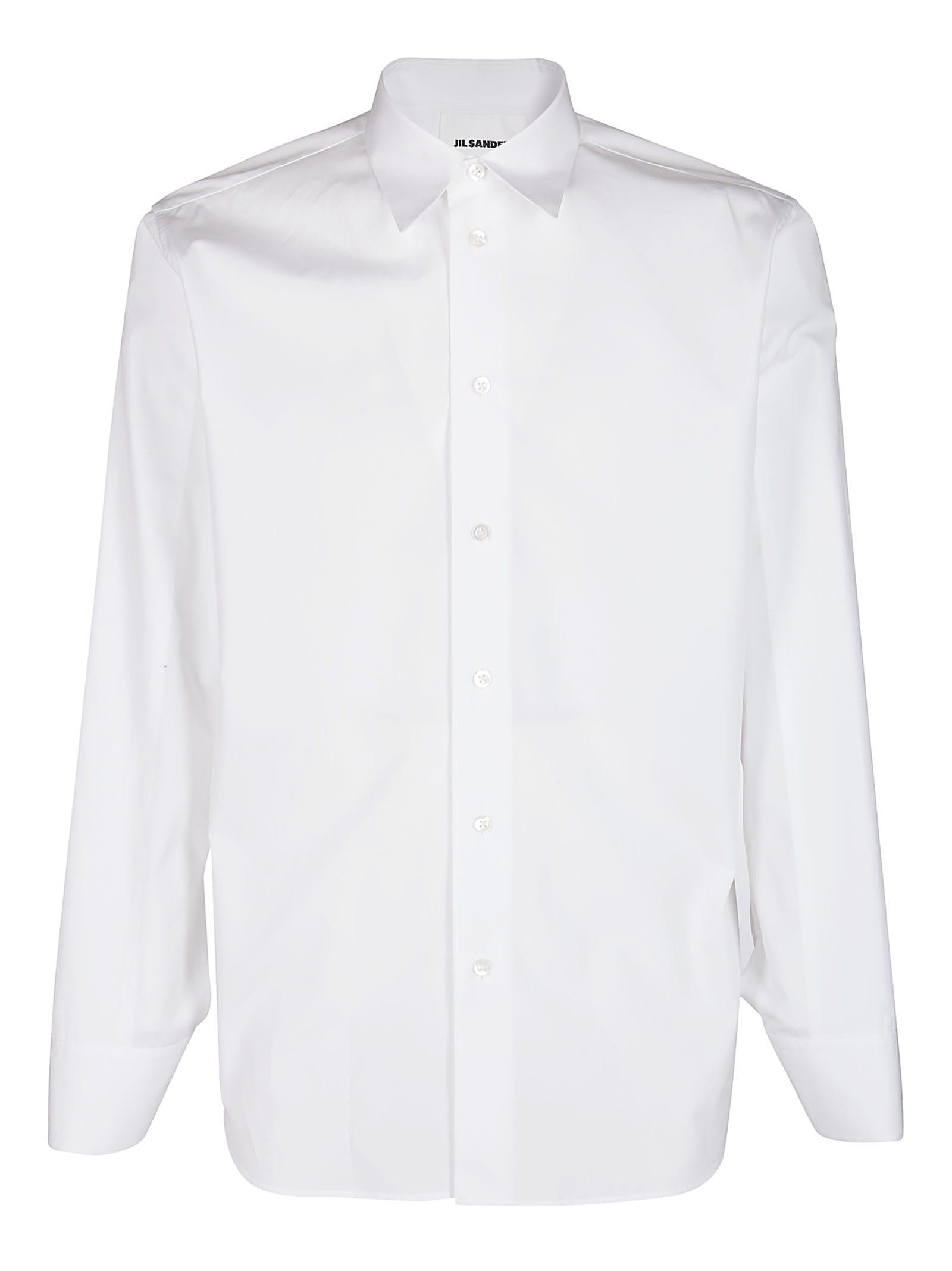 Jil Sander White Cotton-wool Blend Shirt