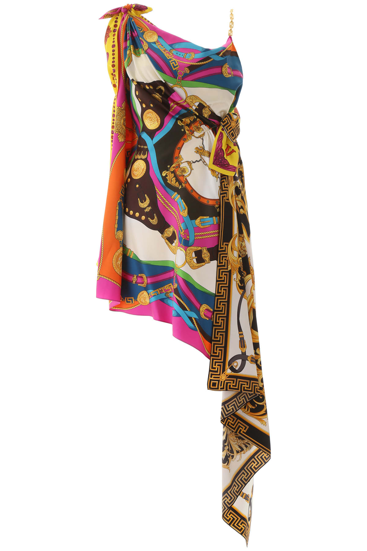 Buy Versace Multi Print Dress online, shop Versace with free shipping