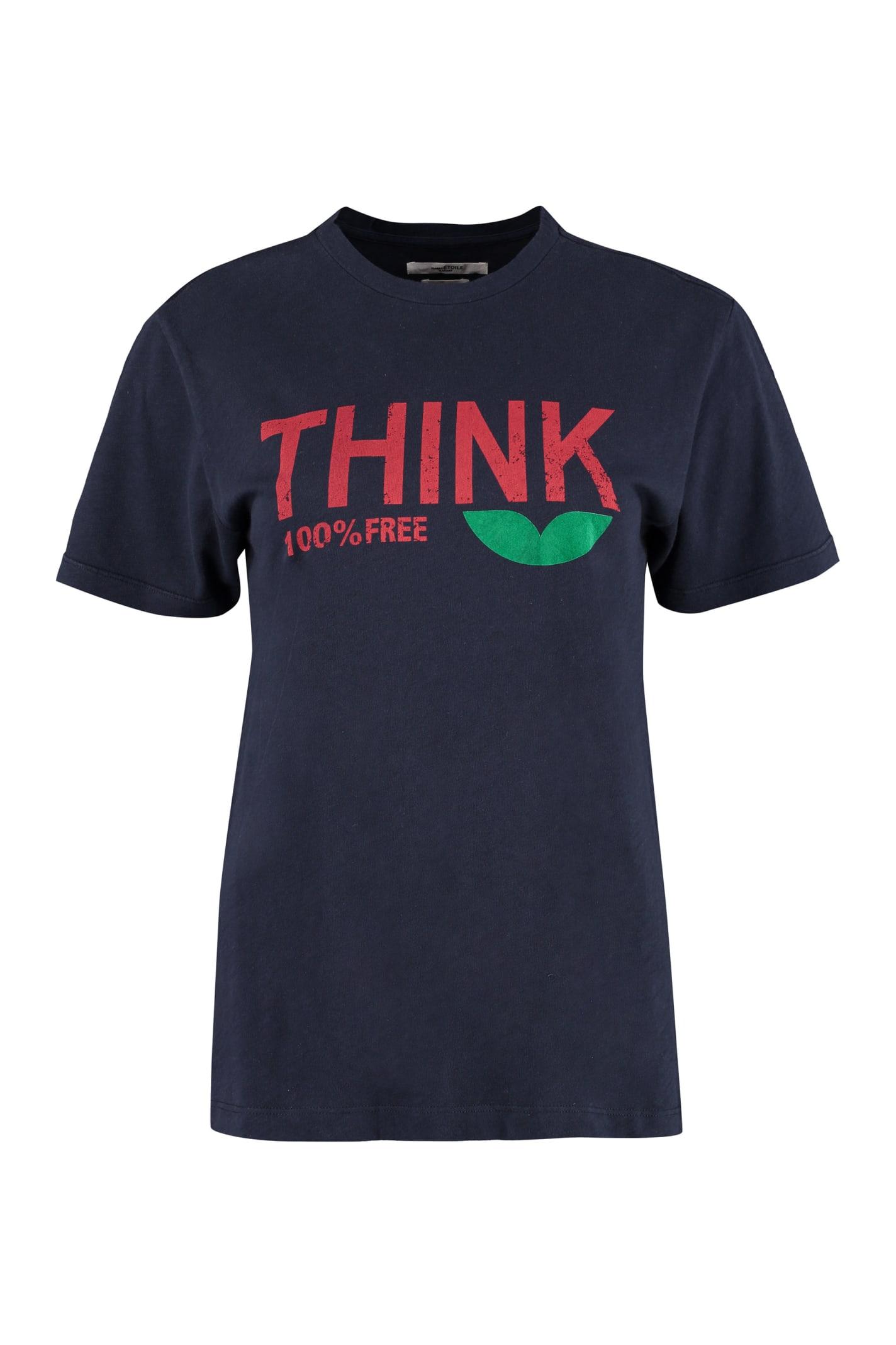 Etoile Isabel Marant T-shirts ZEWEL COTTON T-SHIRT