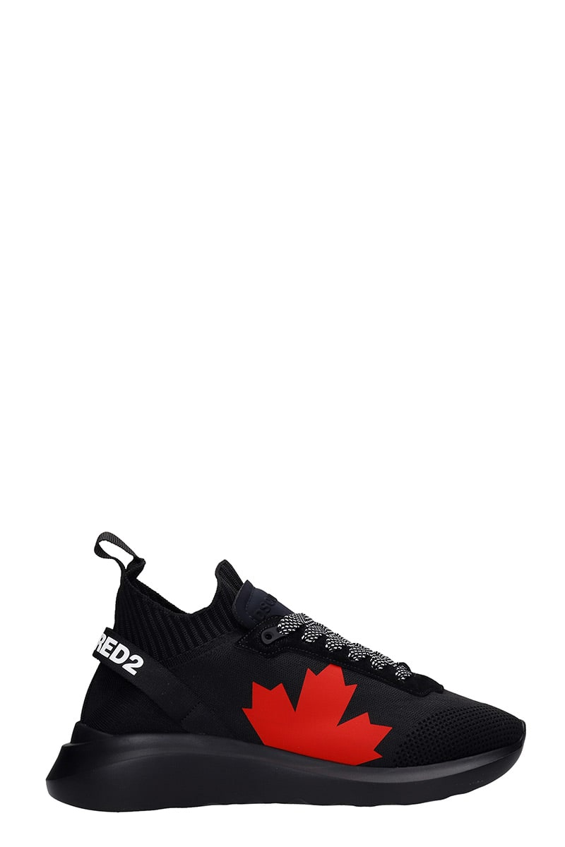 Dsquared2 SPEEDSTER SNEAKERS IN BLACK SYNTHETIC FIBERS