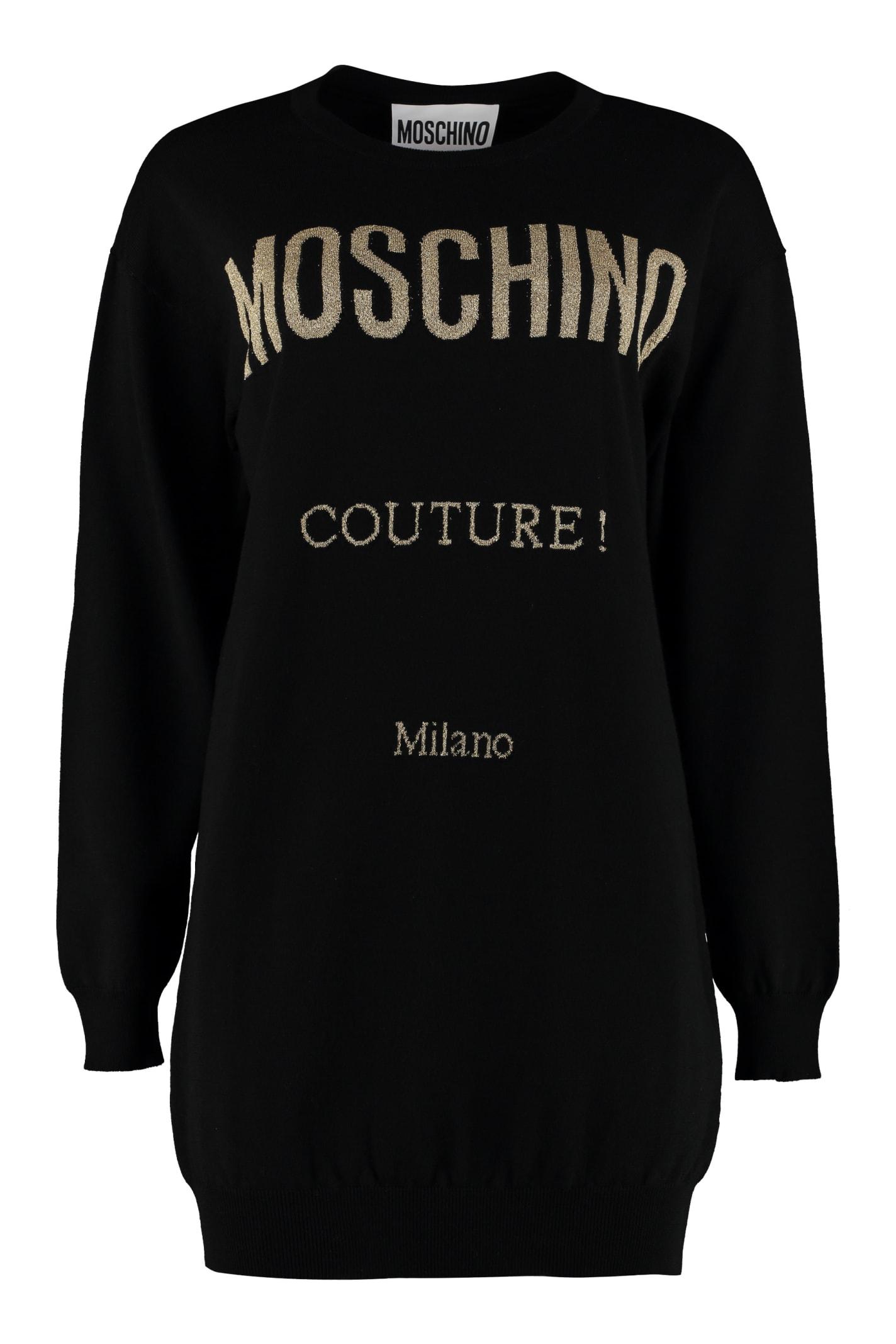 Moschino Intarsia Sweater Dress