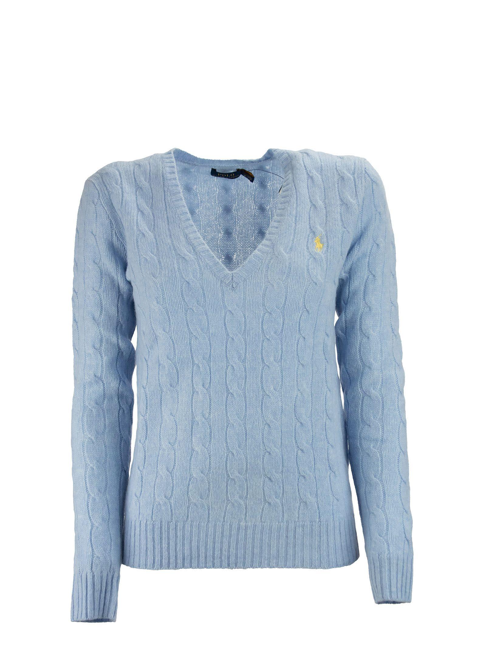 Ralph Lauren V-neck Cable Sweater