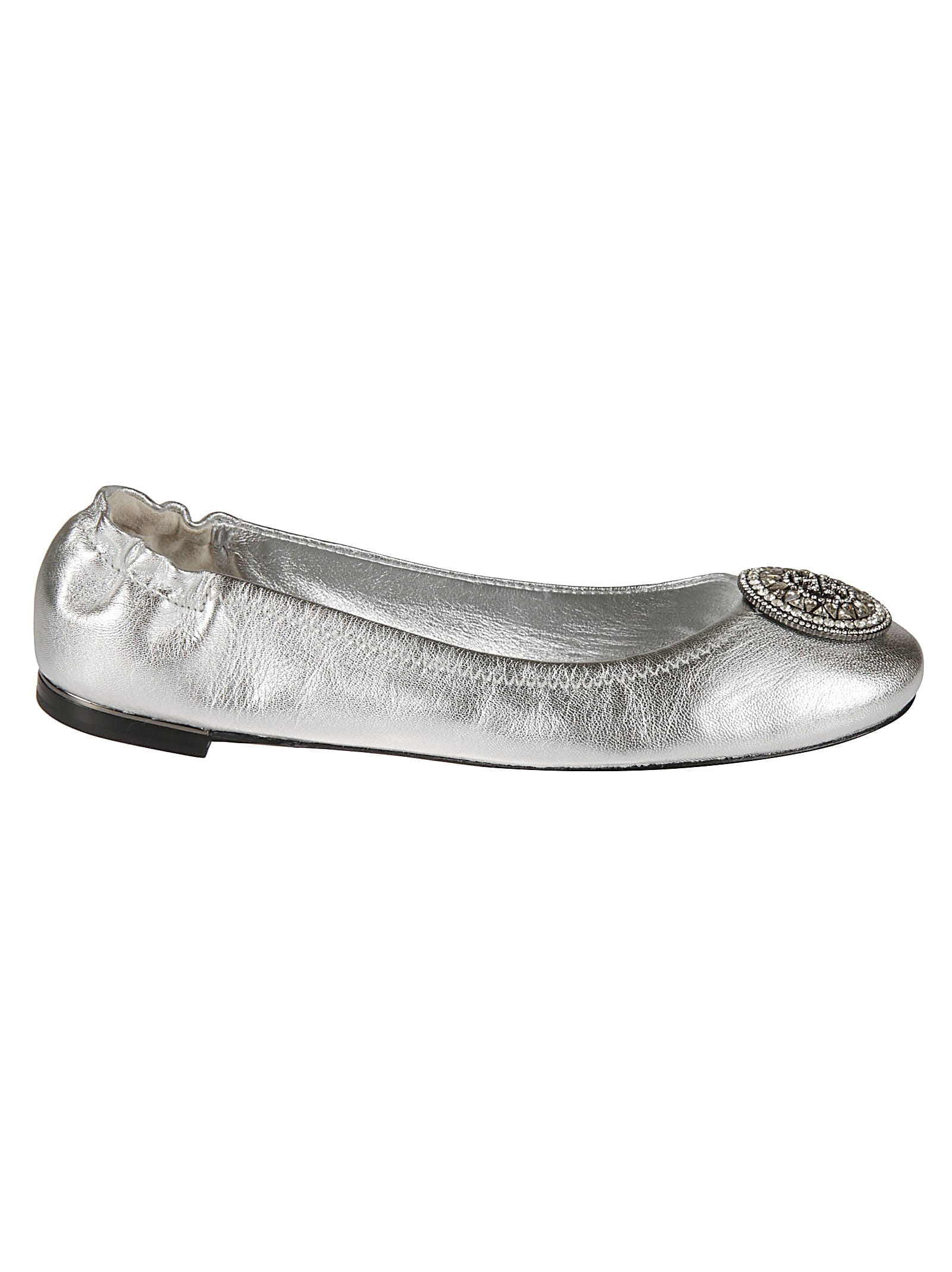 Buy Tory Burch Crystal Logo Ballerinas online, shop Tory Burch shoes with free shipping