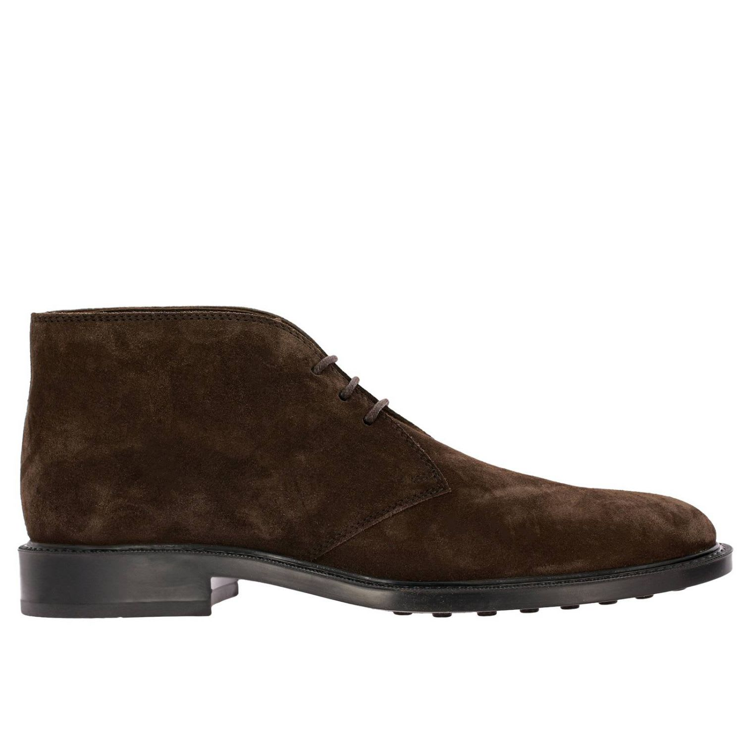 Tods Chukka Boots Tods Lace-up Suede Chukka Boots With Rubber Bottom