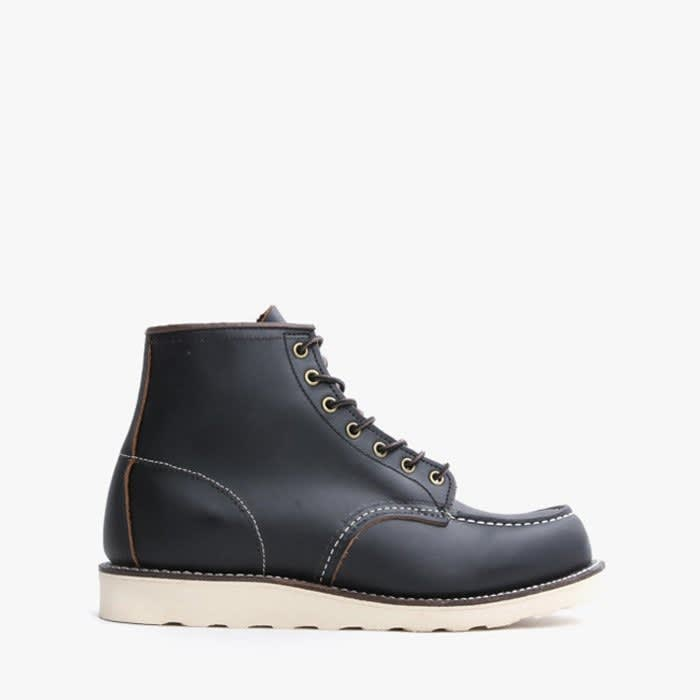 Red Wing Boot Leather Classic Moc Toe Black Prairie