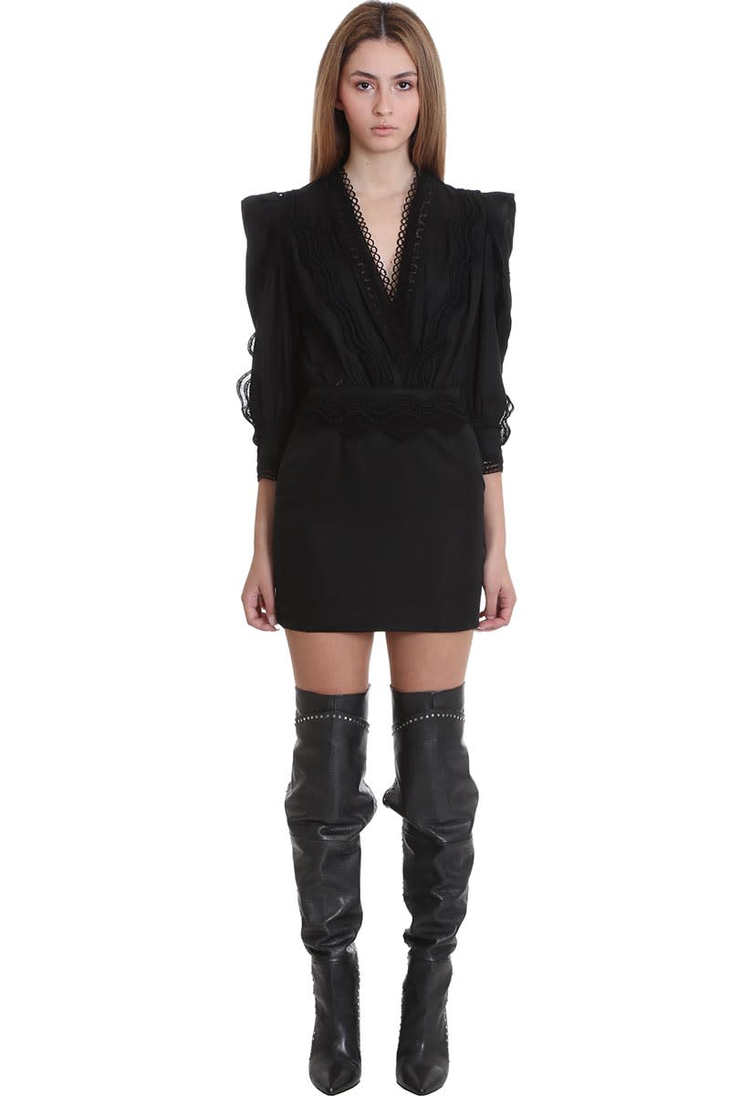 Buy IRO Colm Dress In Black Cotton online, shop IRO with free shipping