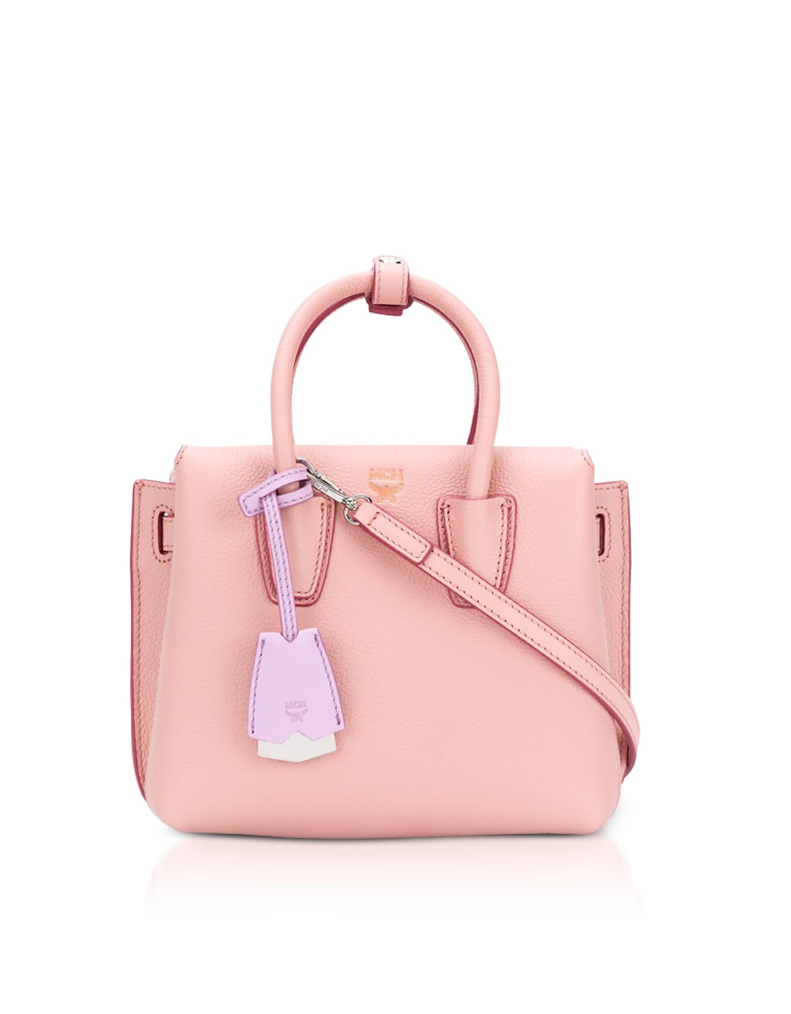 Mcm Totes Mcm Milla Pink Blush Leather Small Tote Bag