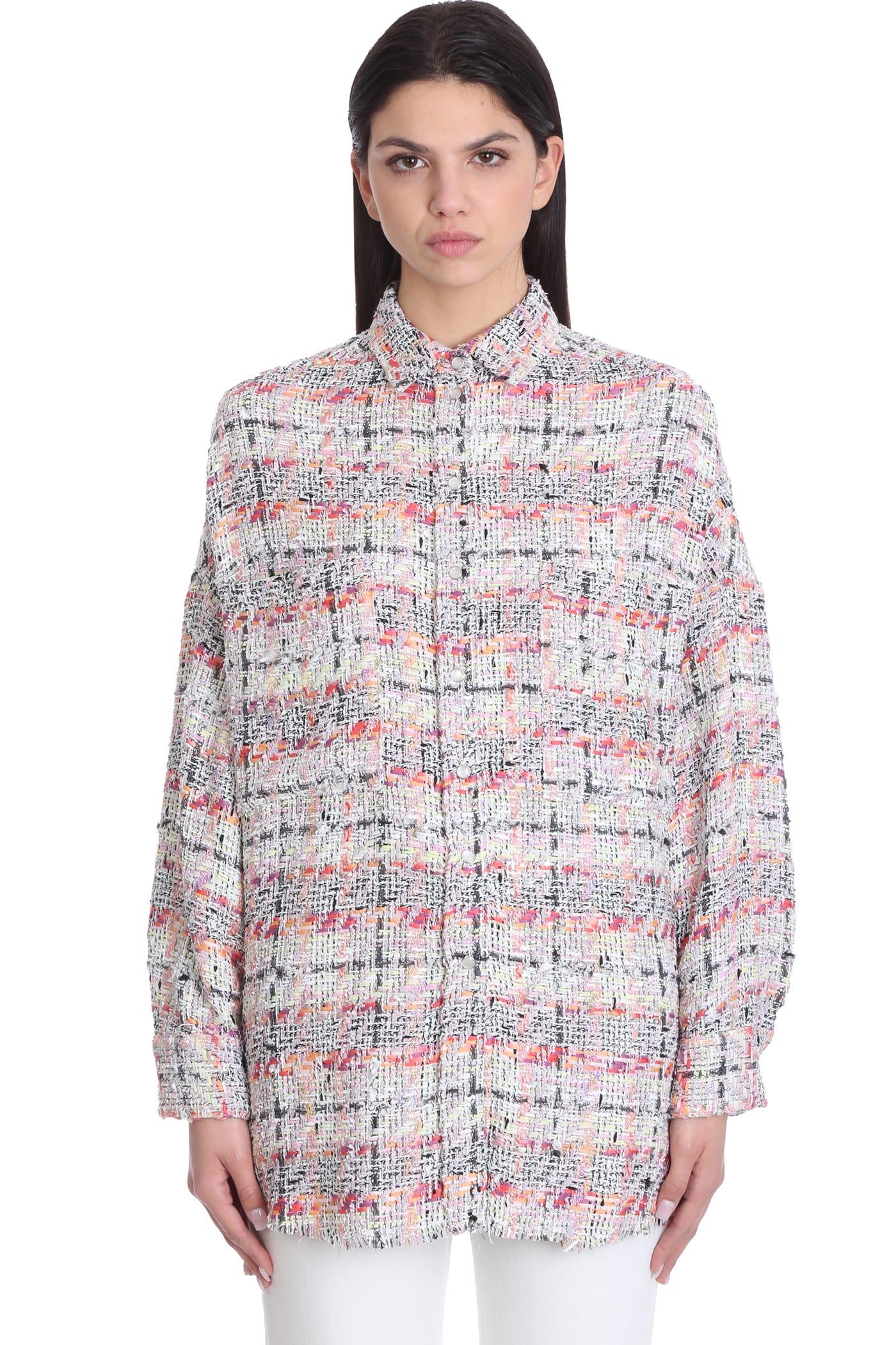 IRO Mekkie Shirt In Rose-pink Cotton And Linen