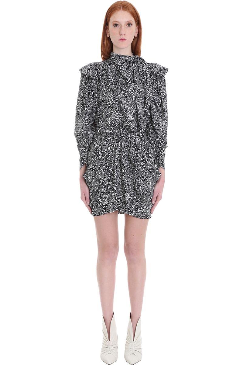Buy Isabel Marant Bruna Dress In Black Silk online, shop Isabel Marant with free shipping