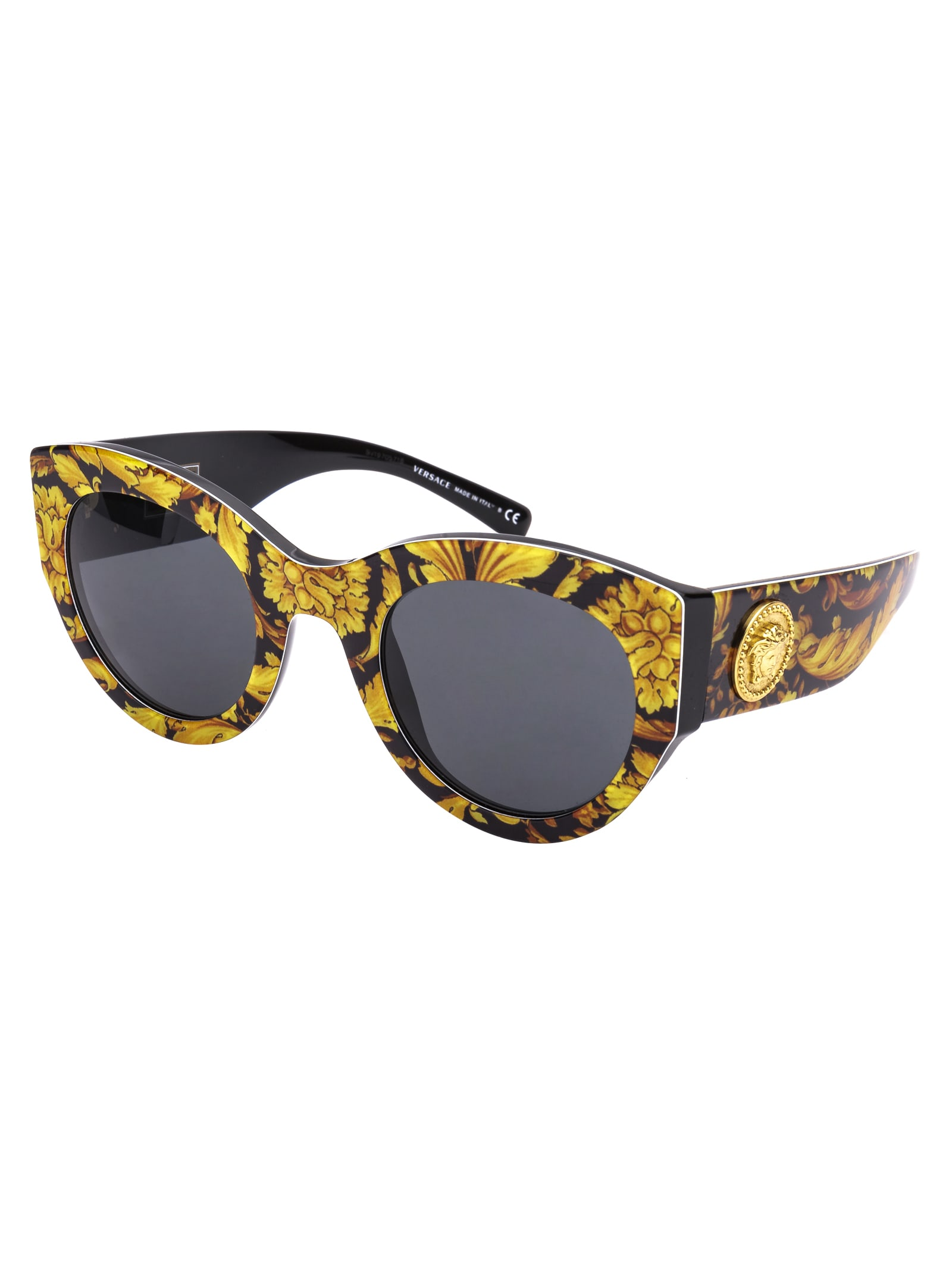 high fashion low price sale fashion styles Versace Versace Sunglasses - Baroque Yellow Black - 11057939 ...