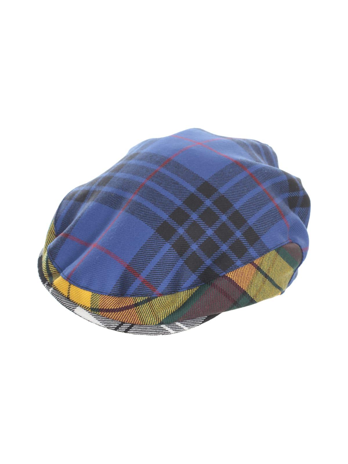 Comme Des Garçons Shirt WOOL TARTAN CHECK GABARDINE HAT