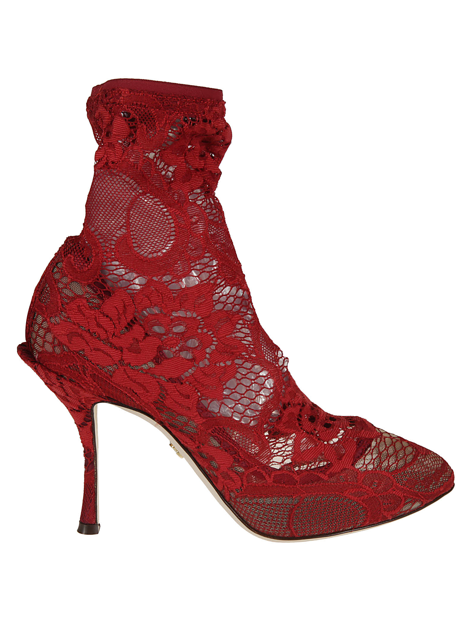 Buy Dolce & Gabbana Floral Lace Pumps online, shop Dolce & Gabbana shoes with free shipping