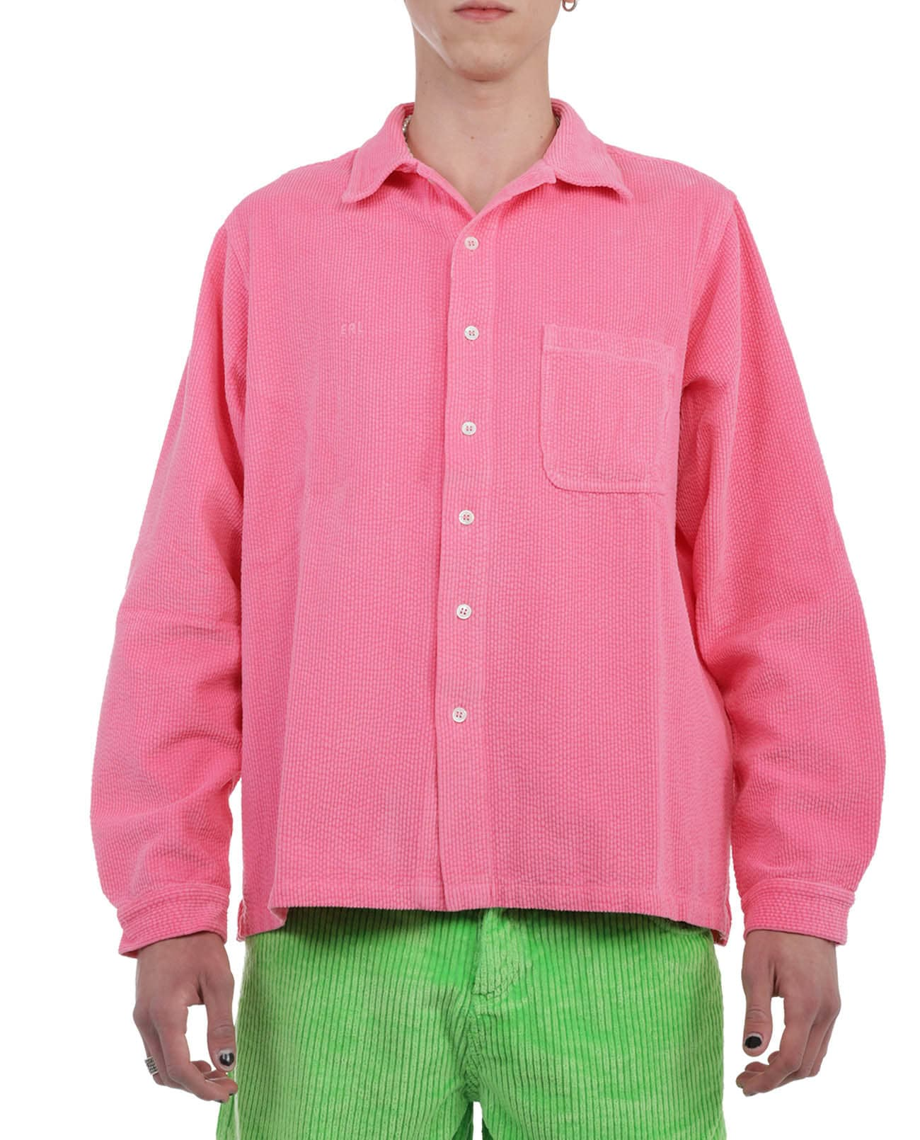 Erl Downs ERL PINK CORD SHIRT