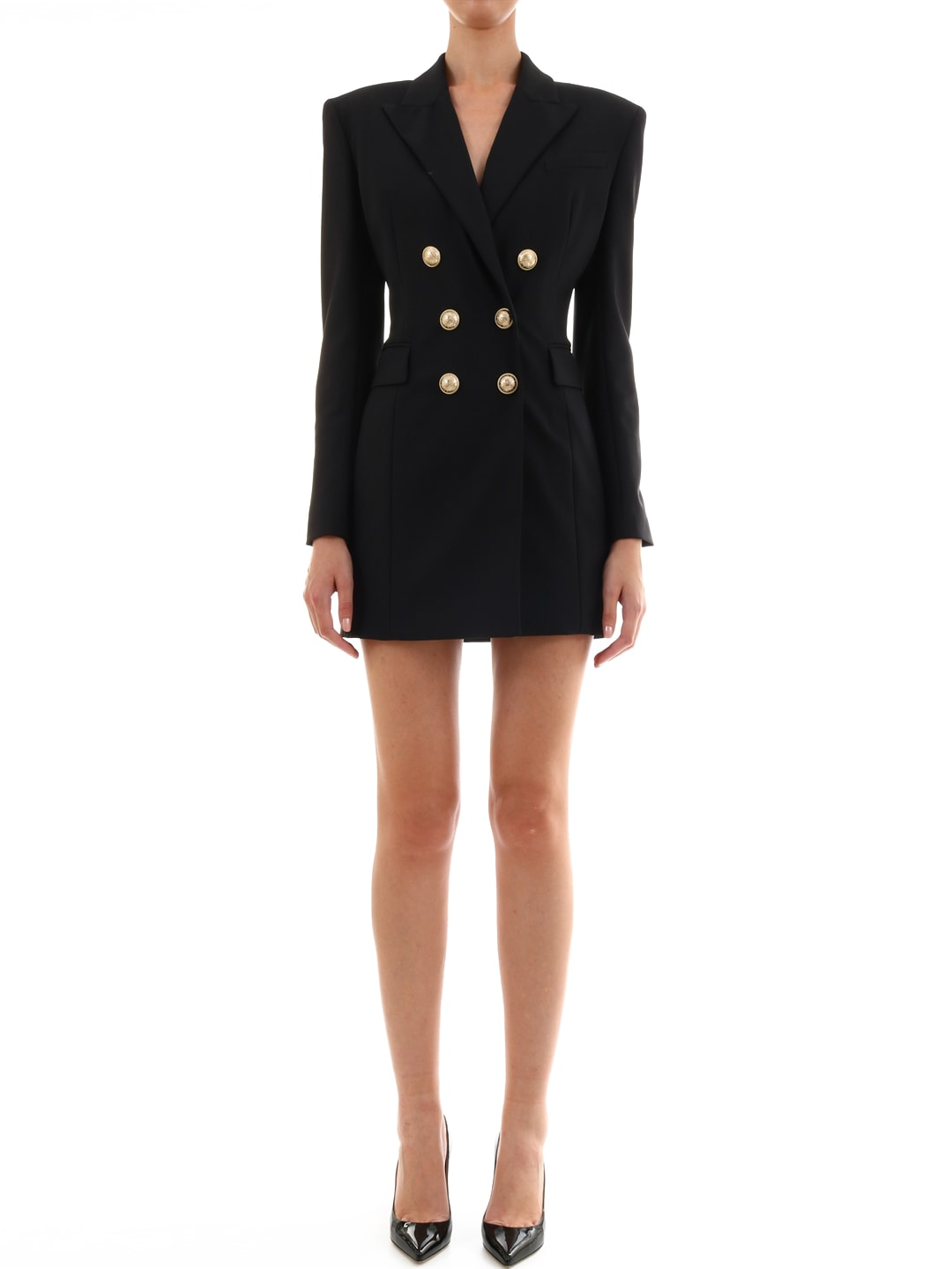 Balmain Double-breasted Wool Dress