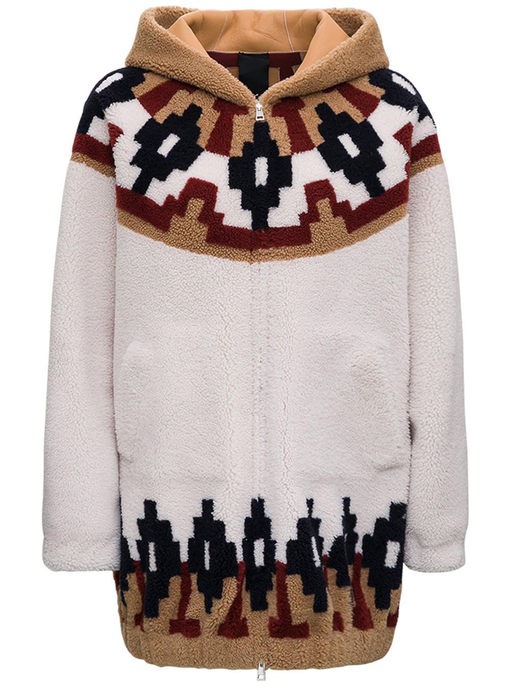 Reversible Wool Coat With Norwegian Inlay