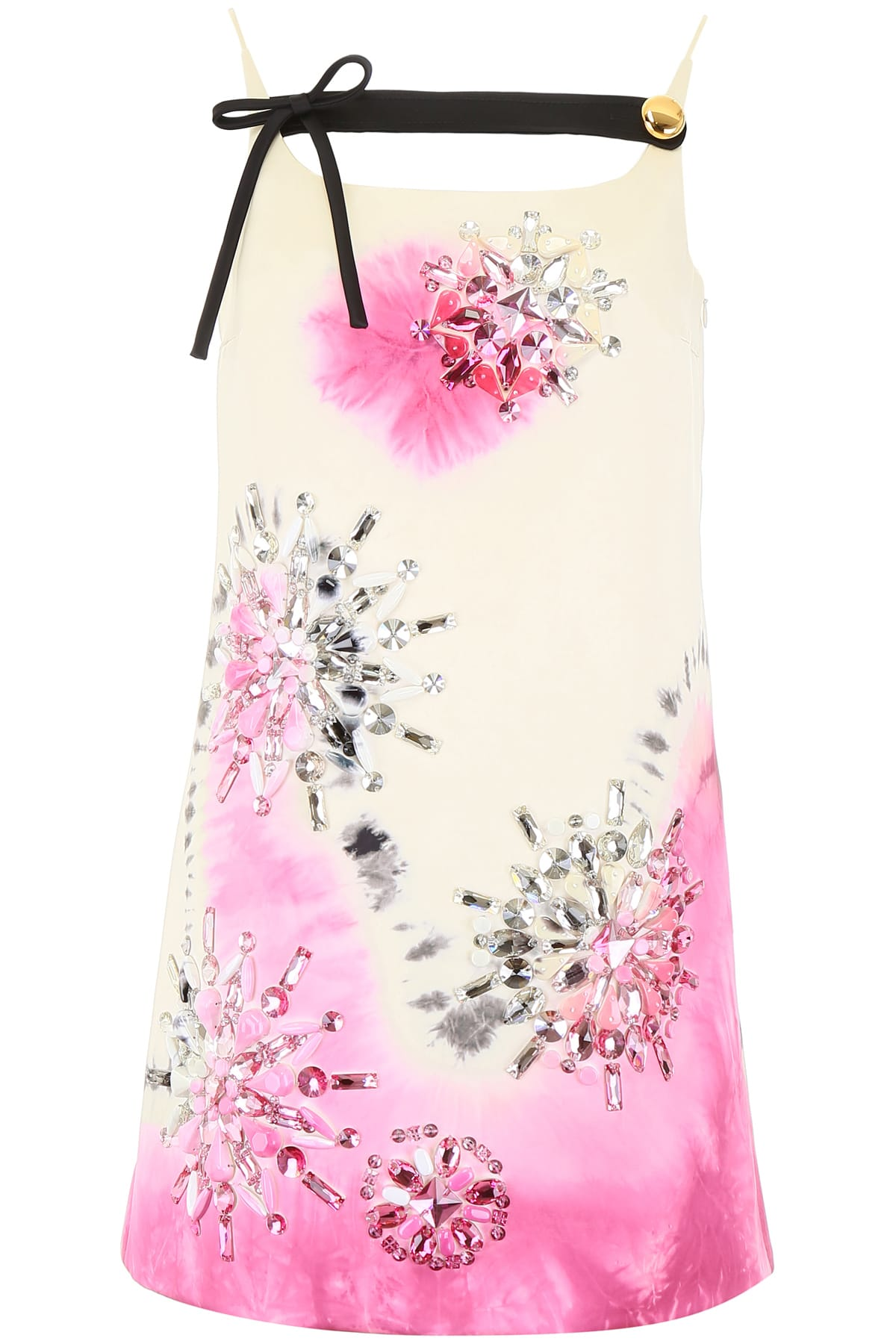 Buy Prada Tie-dye Mini Dress With Crystals online, shop Prada with free shipping