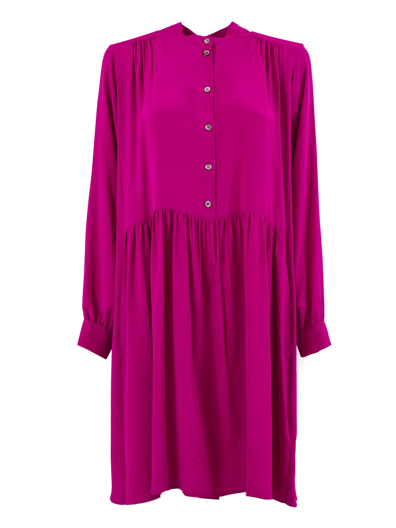 Buy SEMICOUTURE Fuchsia Pink Long Button-up Dress online, shop SEMICOUTURE with free shipping