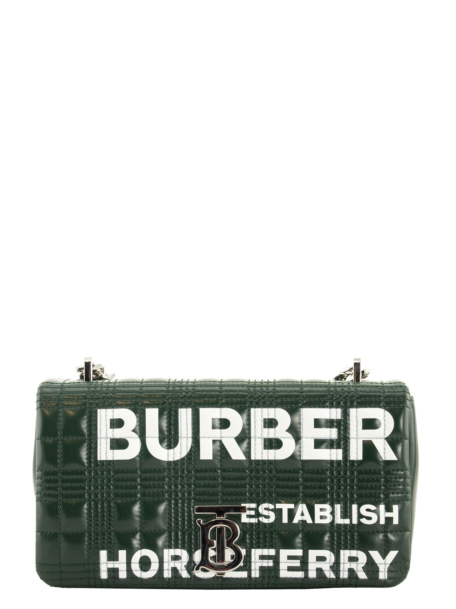 Burberry Sm Lola Small Horseferry Print Quilted Lola Bag