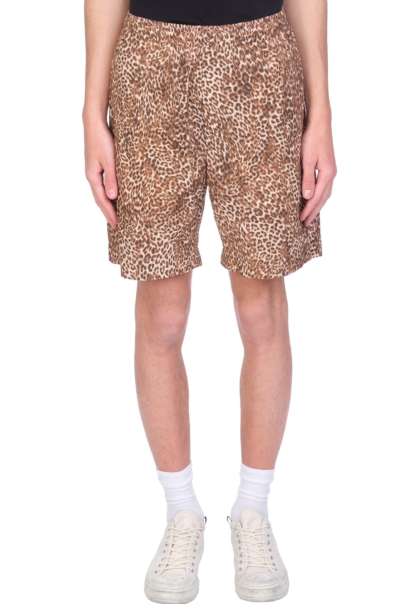 Shorts In Animalier Wool