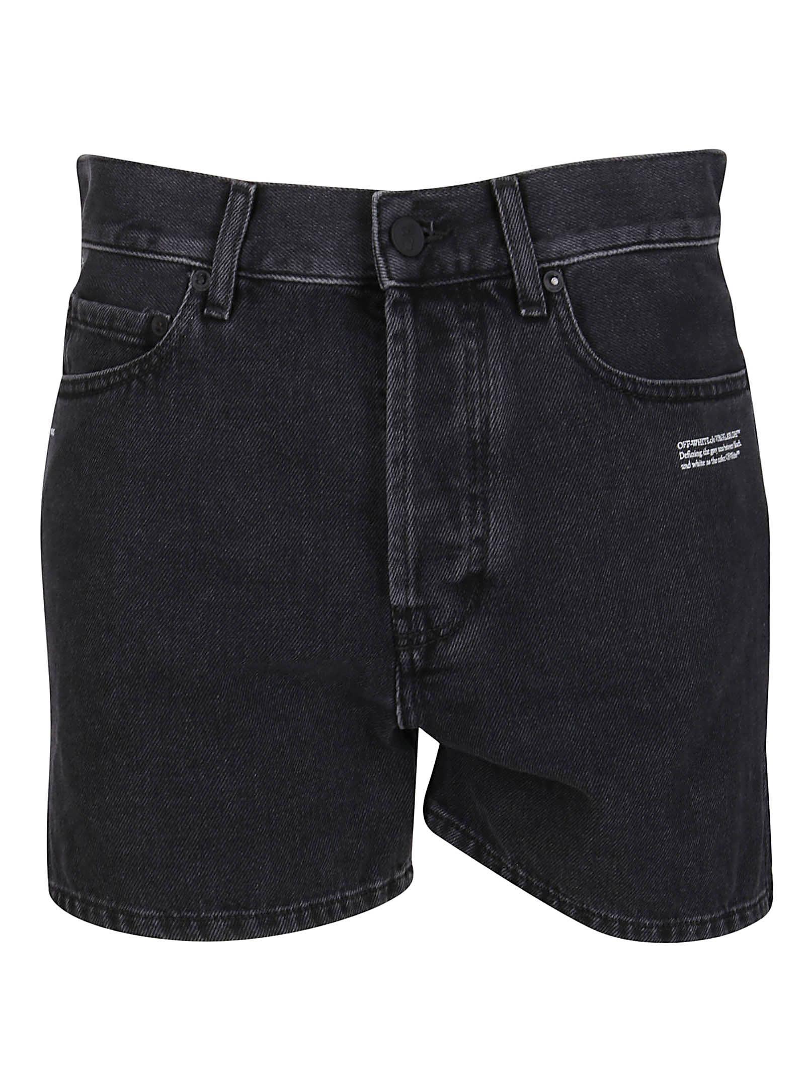 Off-White Shorts BLACK DENIM SHORTS