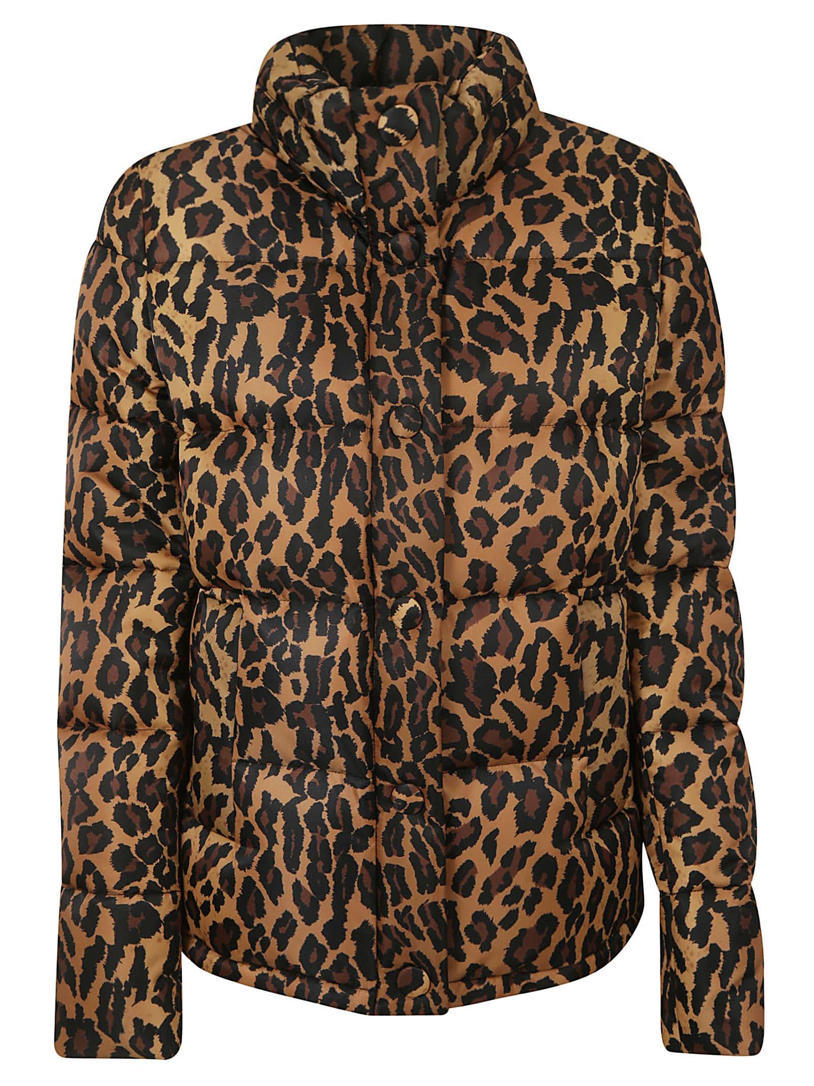 Miu Miu Leopard Print Down Jacket