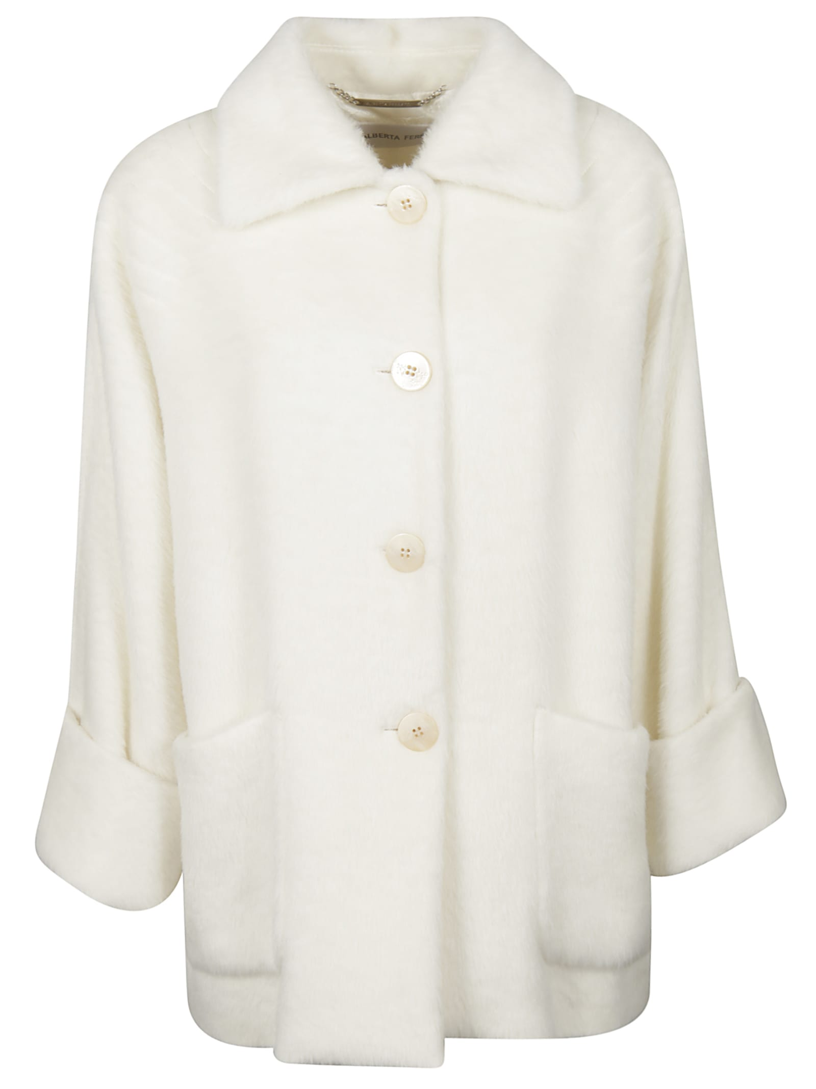 Alberta Ferretti Folded Cuff Patch Pocket Coat