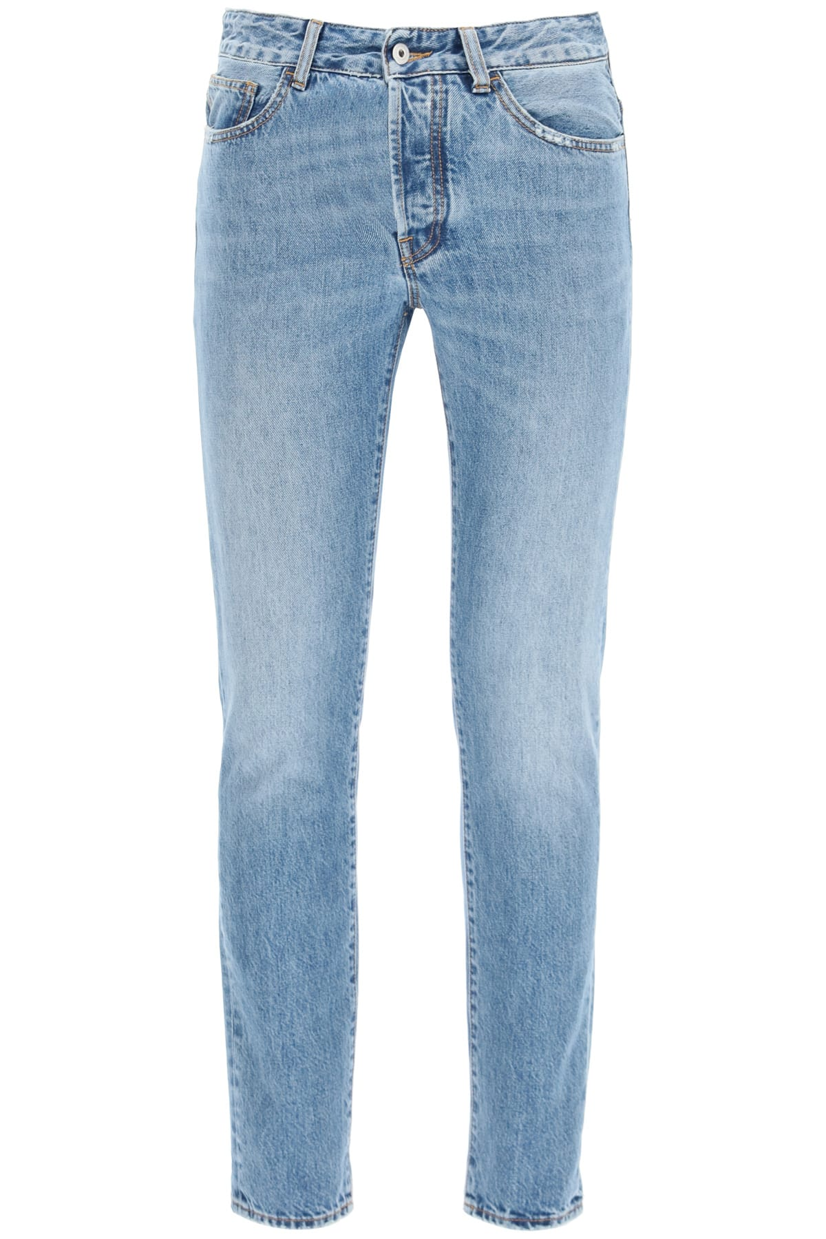 Slim Jeans With Fire Cross Print