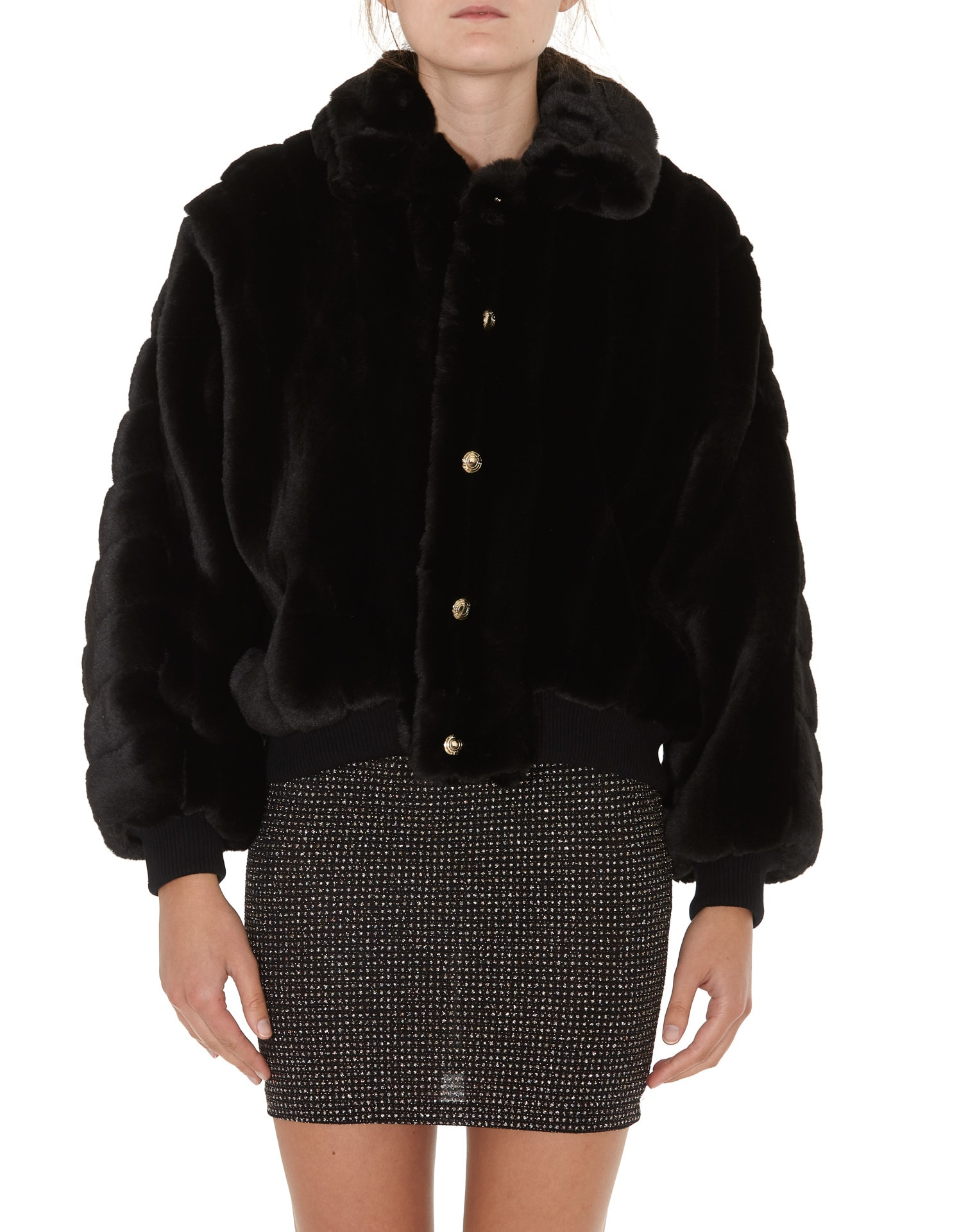 Gcds Widoweco Fur Cropped Jacket