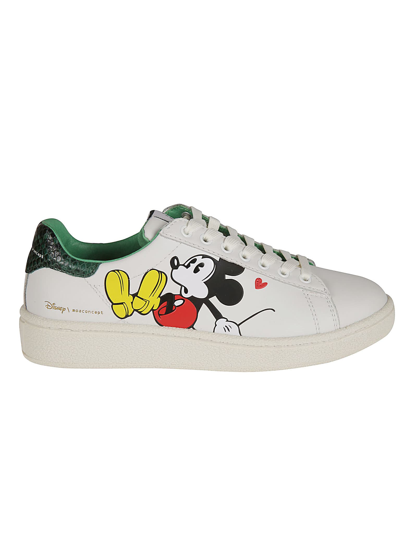 Moa Master Of Arts Leathers GRAND MASTER MICKEY MOUSE PRINTED SNEAKERS