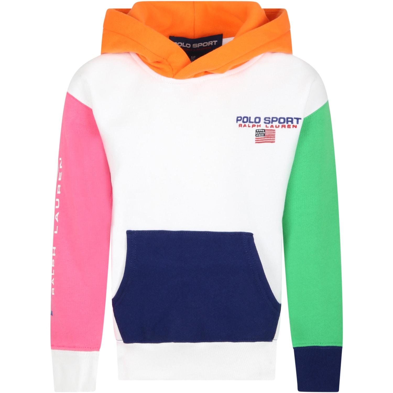 Ralph Lauren Multicolor Sweatshirt For Kids With Logo