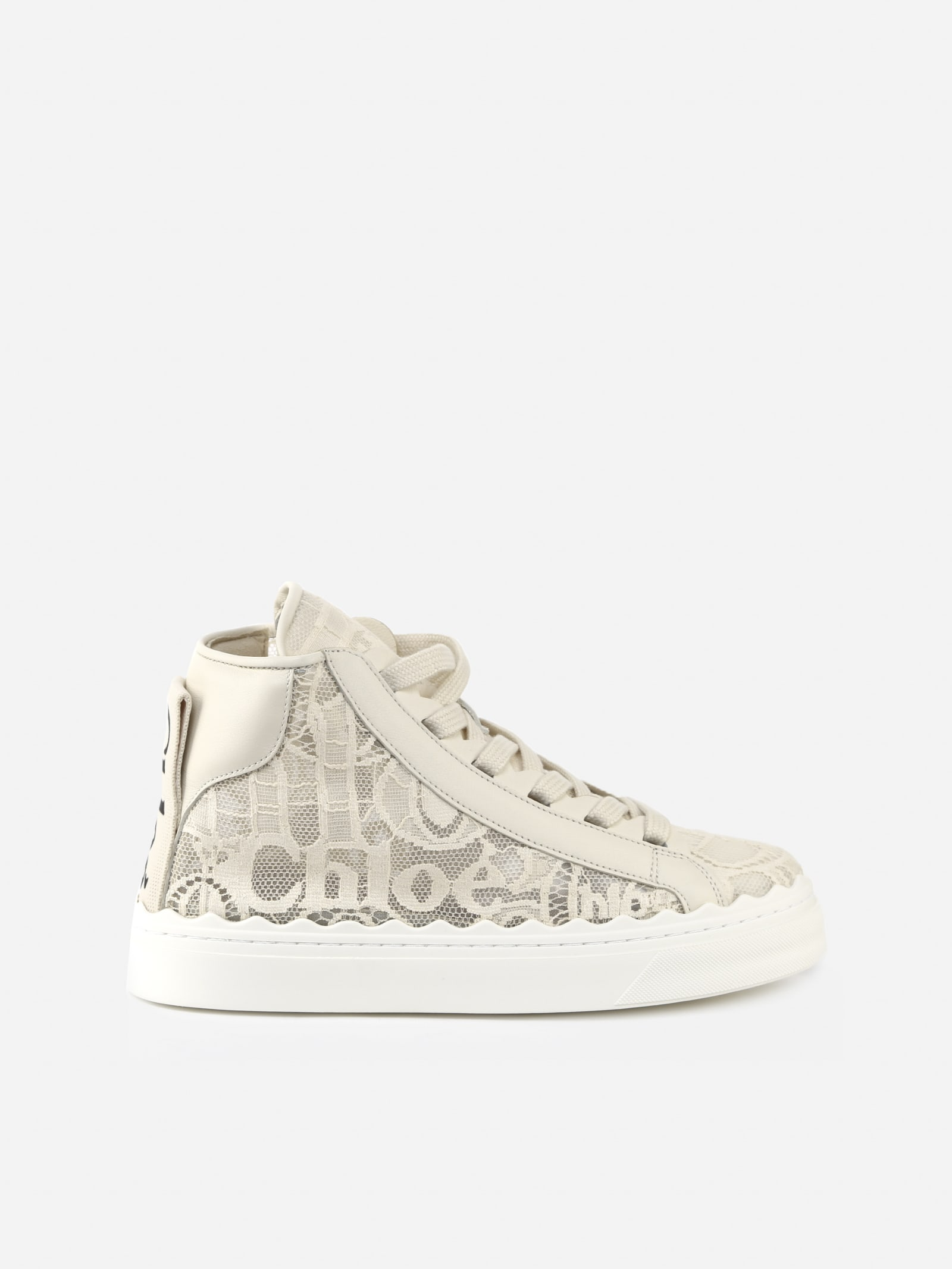 Chloé HIGH LAUREN LACE SNEAKER