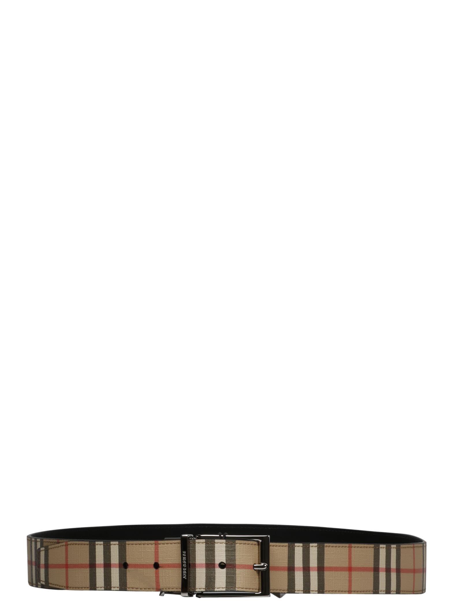 Burberry Reversible Vintage Check Belt