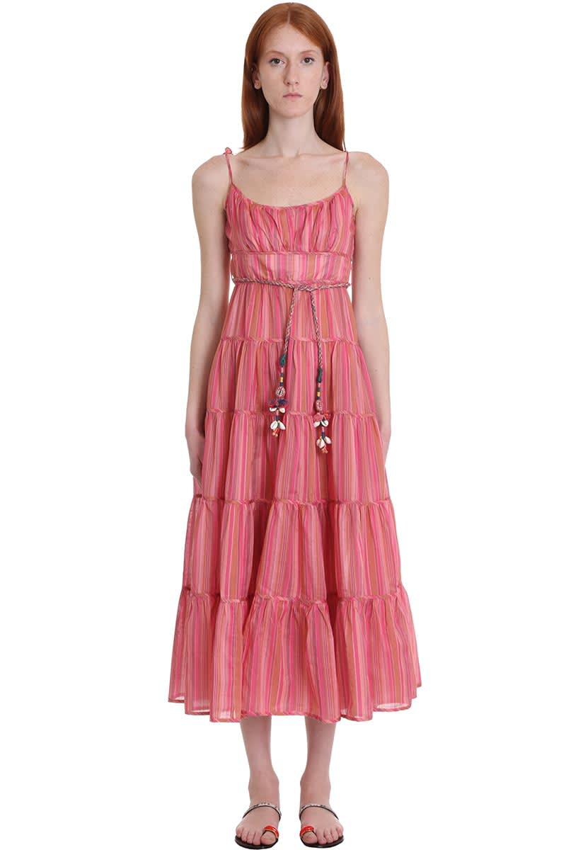 Buy Zimmermann Dress In Rose-pink Cotton online, shop Zimmermann with free shipping